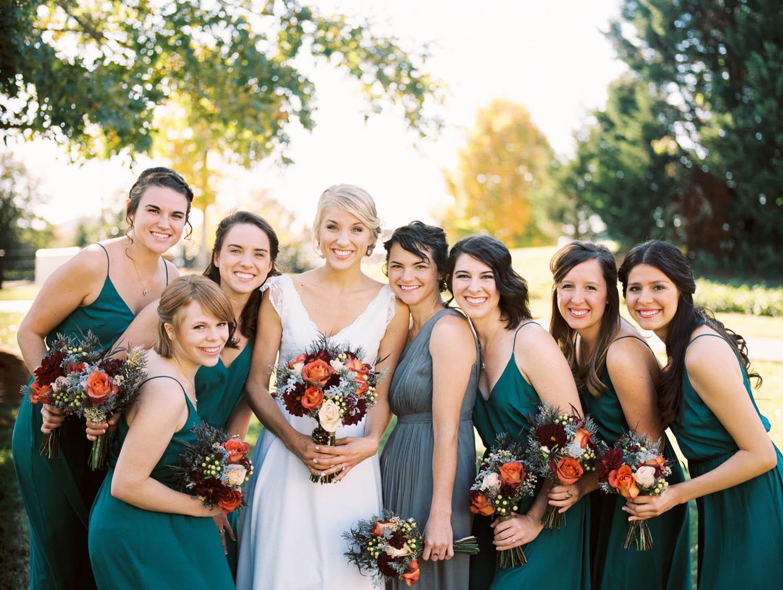 Bride and Bridesmaids Bouquets // Nashville Wedding Florist