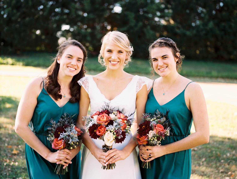 Bride and Bridesmaid bouquets // Nashville Wedding Florist