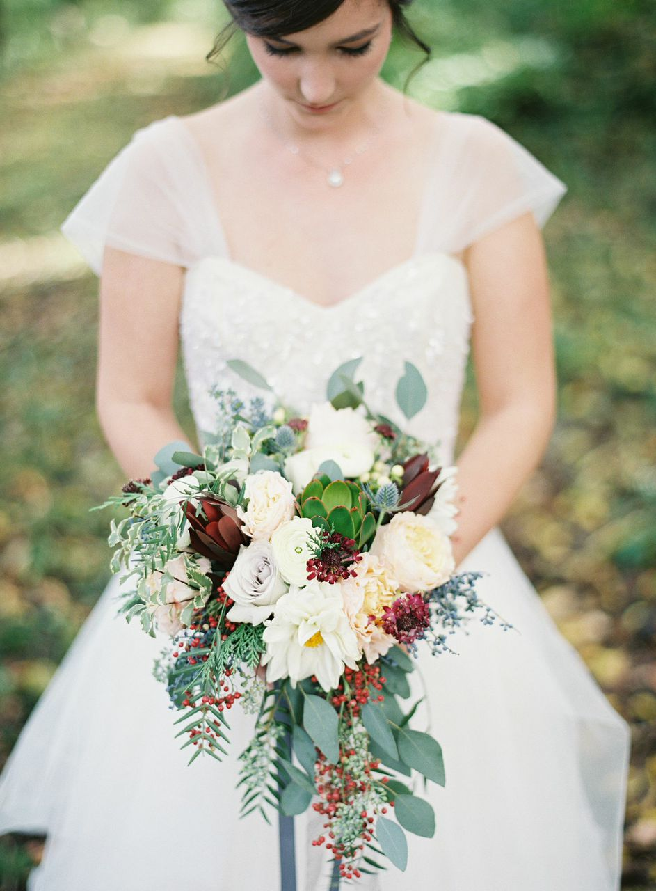 Whimsical, wild bridal bouquet // Nashville Wedding Flowers