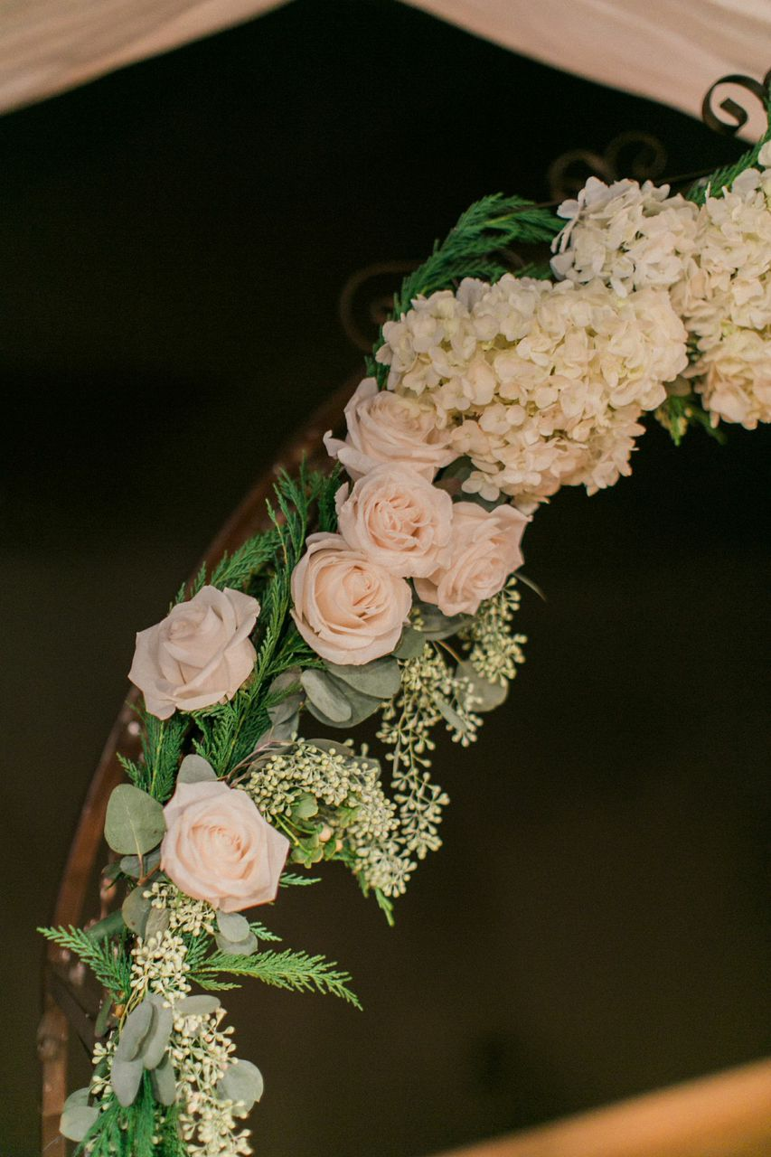 Flower arch with hydrangeas and roses // Nashville Wedding Florist