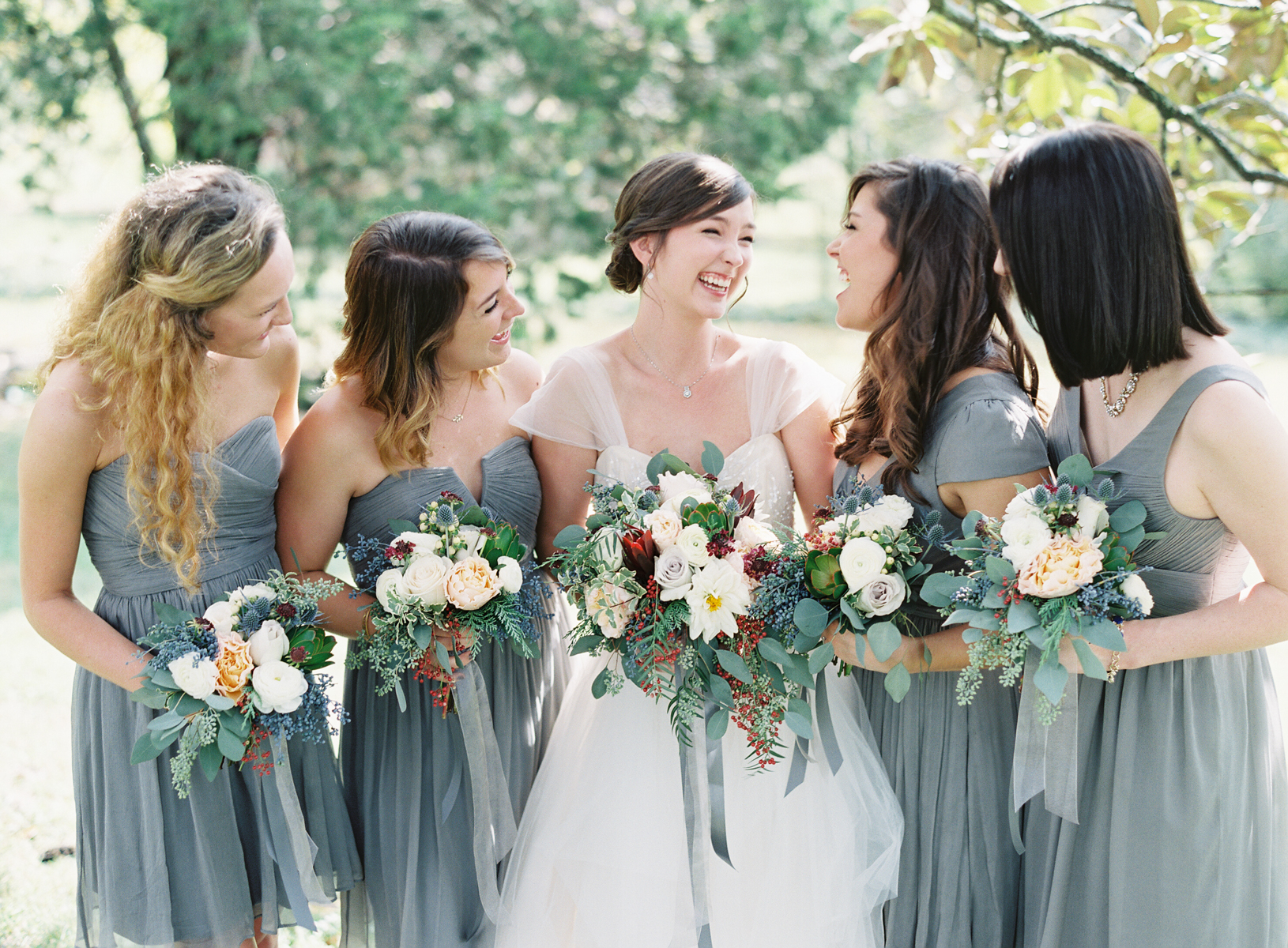 Brides and Bridesmaids bouquets // Nashville Wedding Florist