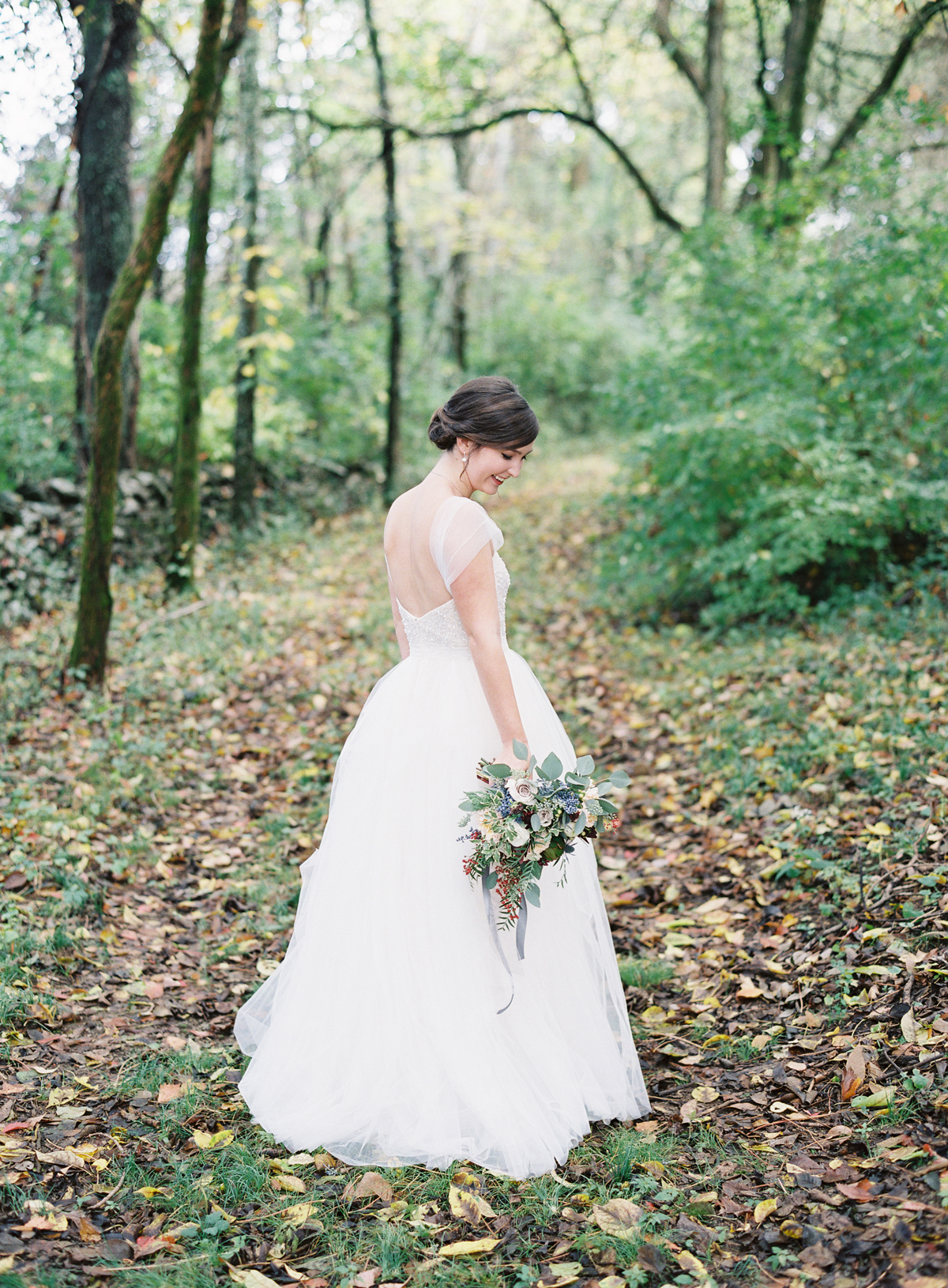 Woodland bridal portrait // Nashville Wedding Florist