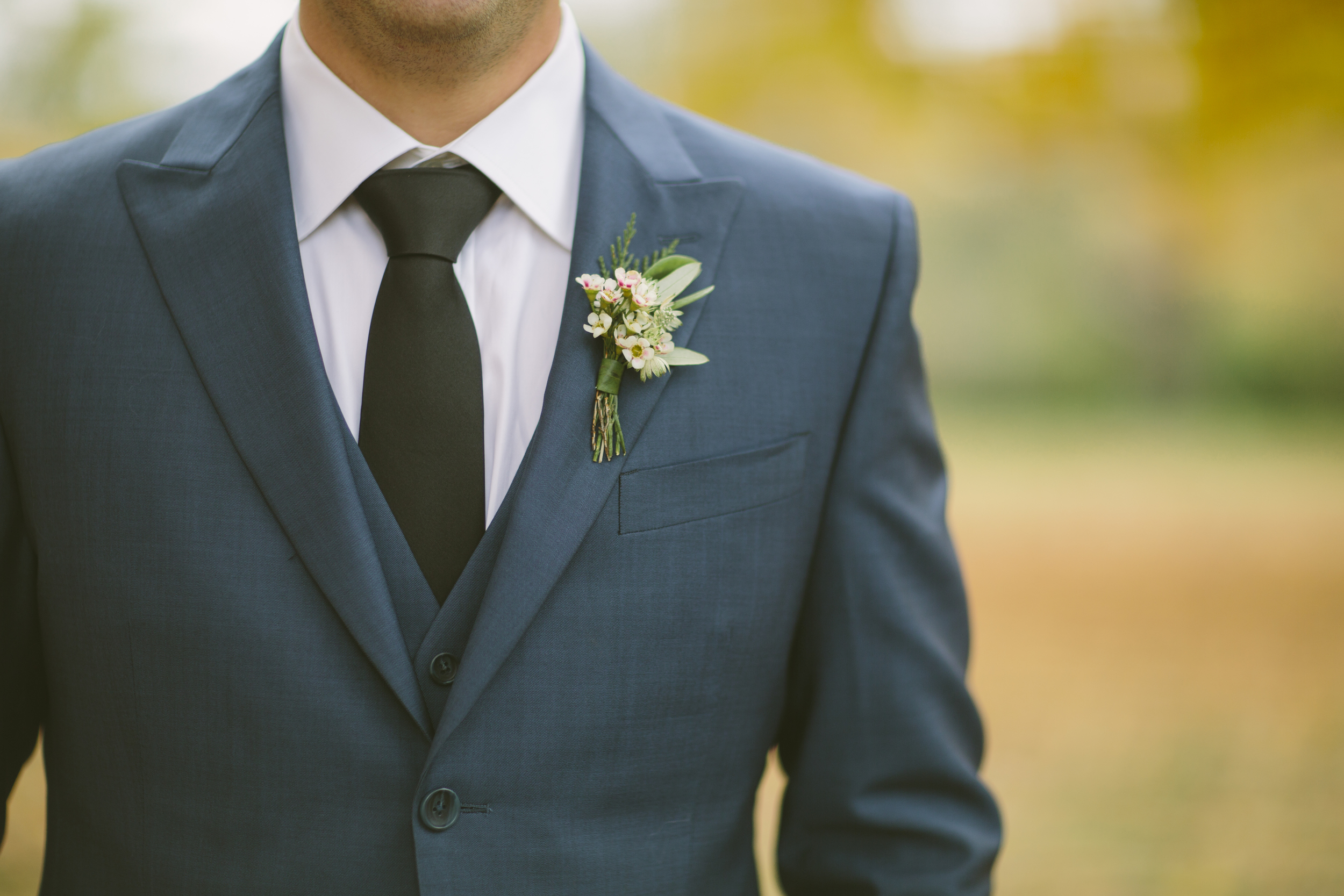 Organic groom's boutonniere // Nashville Wedding Florist