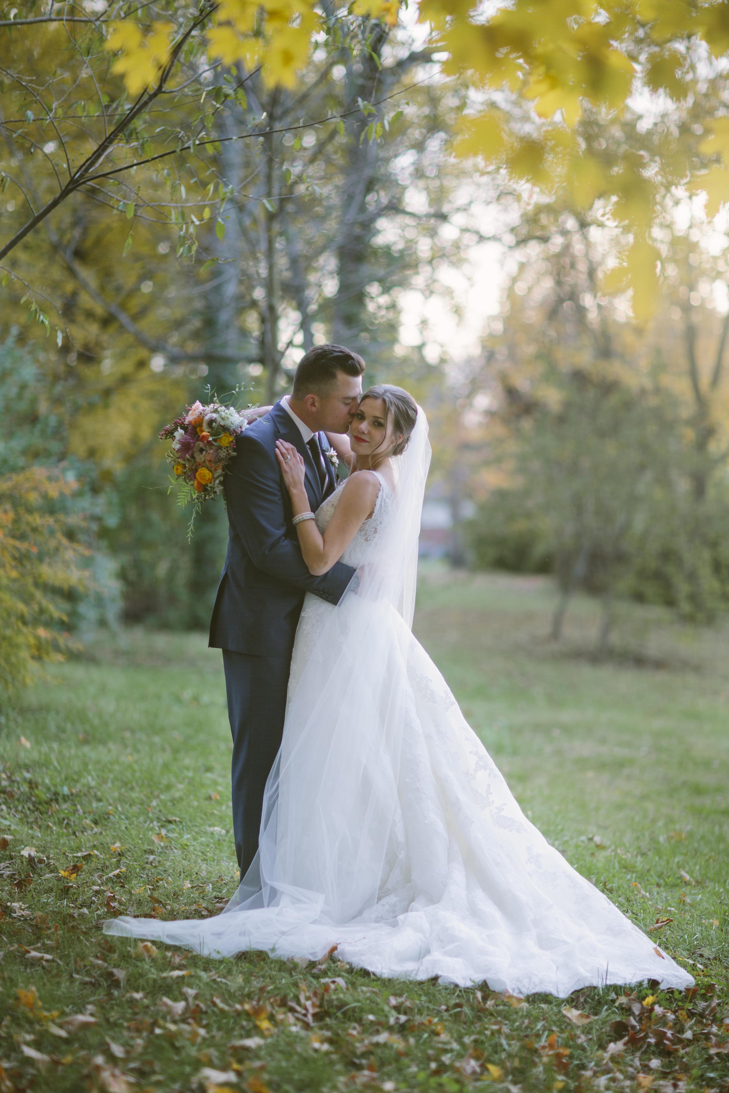 Fall Wedding Portrait // Nashville Florist