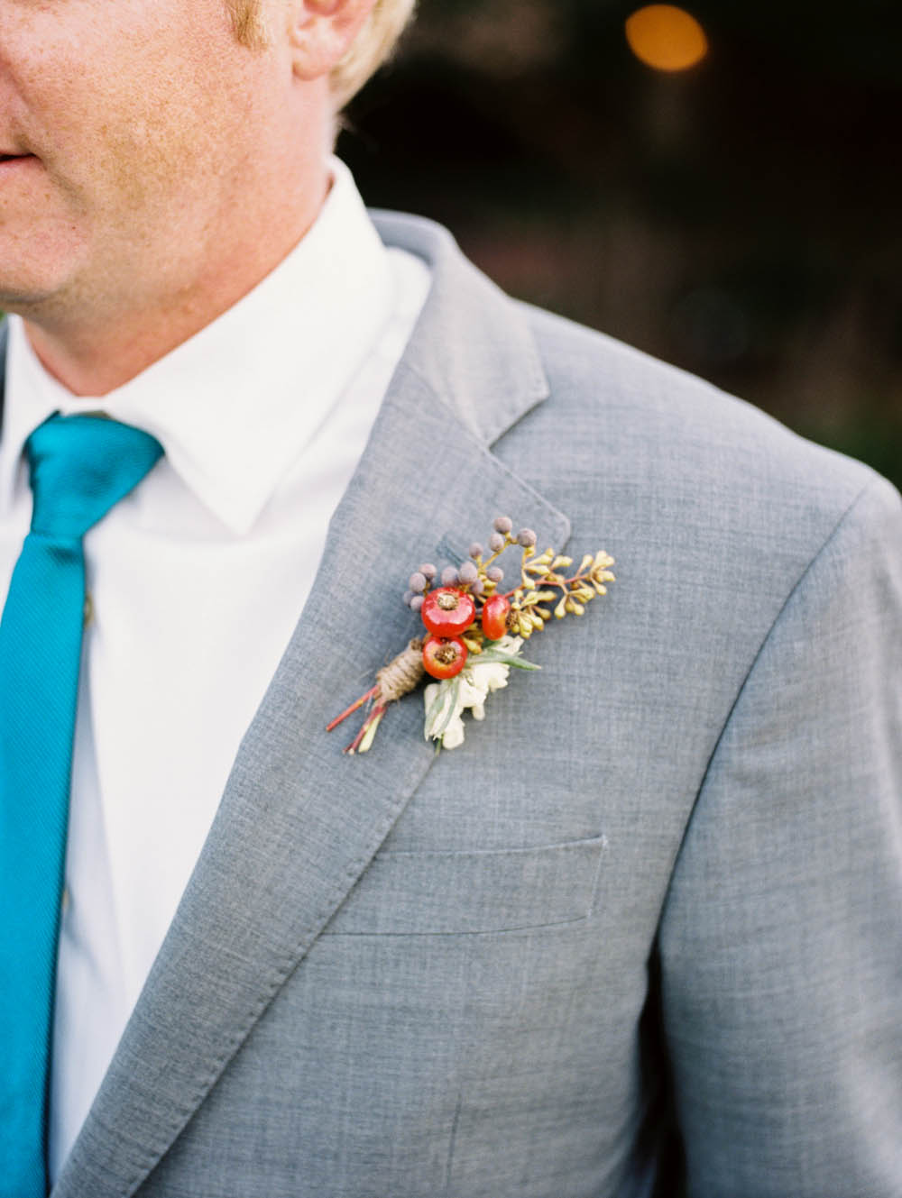 Boutonniere with Rosehips and Berries