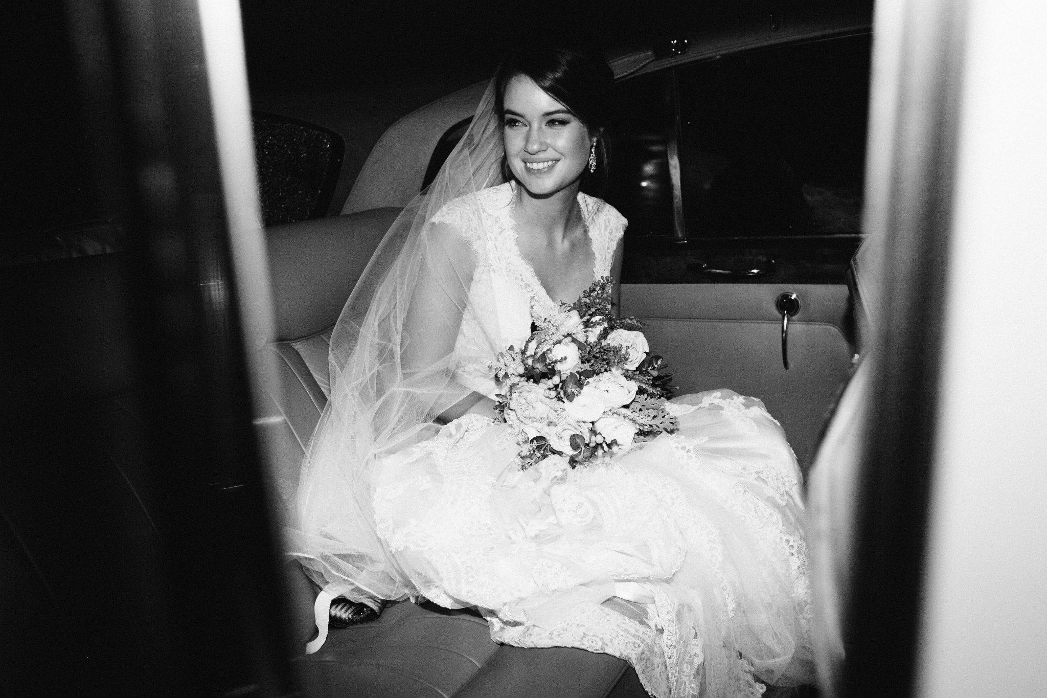 Nashville Wedding Flowers // Classic Getaway Car