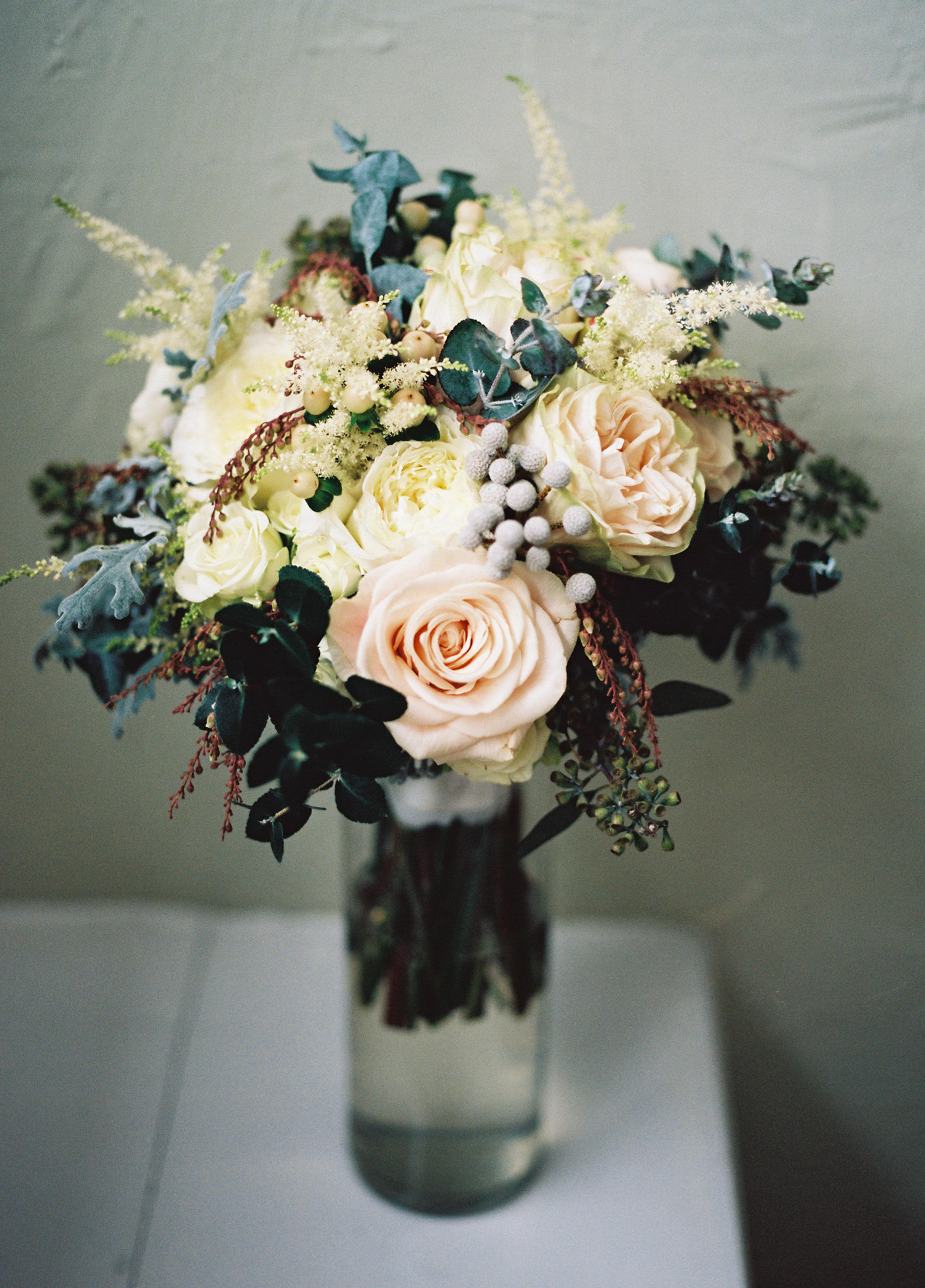 Blush and neutral bridal bouquet // Nashville Wedding Florist