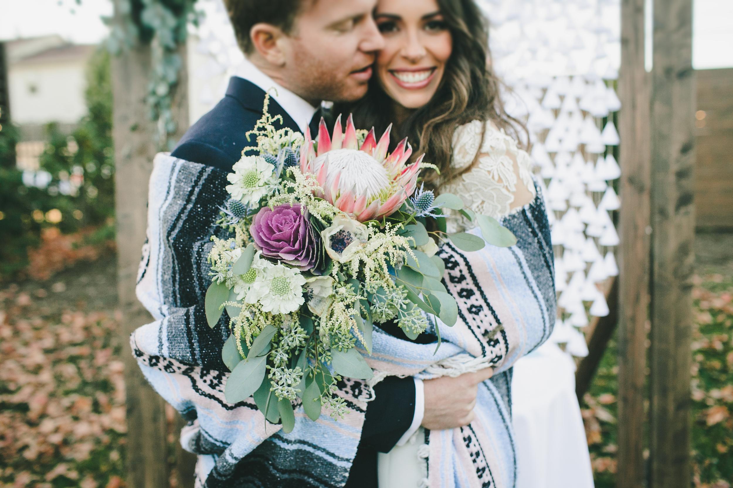 King Protea Bridal Bouquet // Nashville Wedding Florist