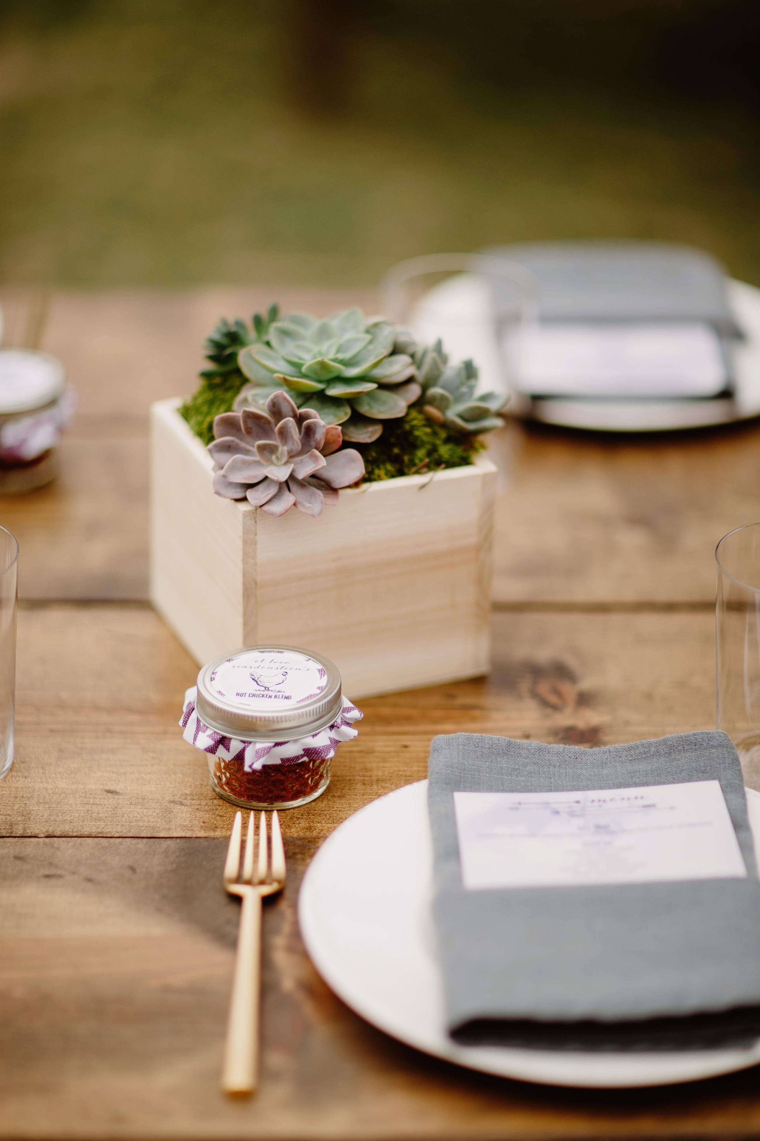 Succulent planter centerpiece // Nashville Wedding Flowers