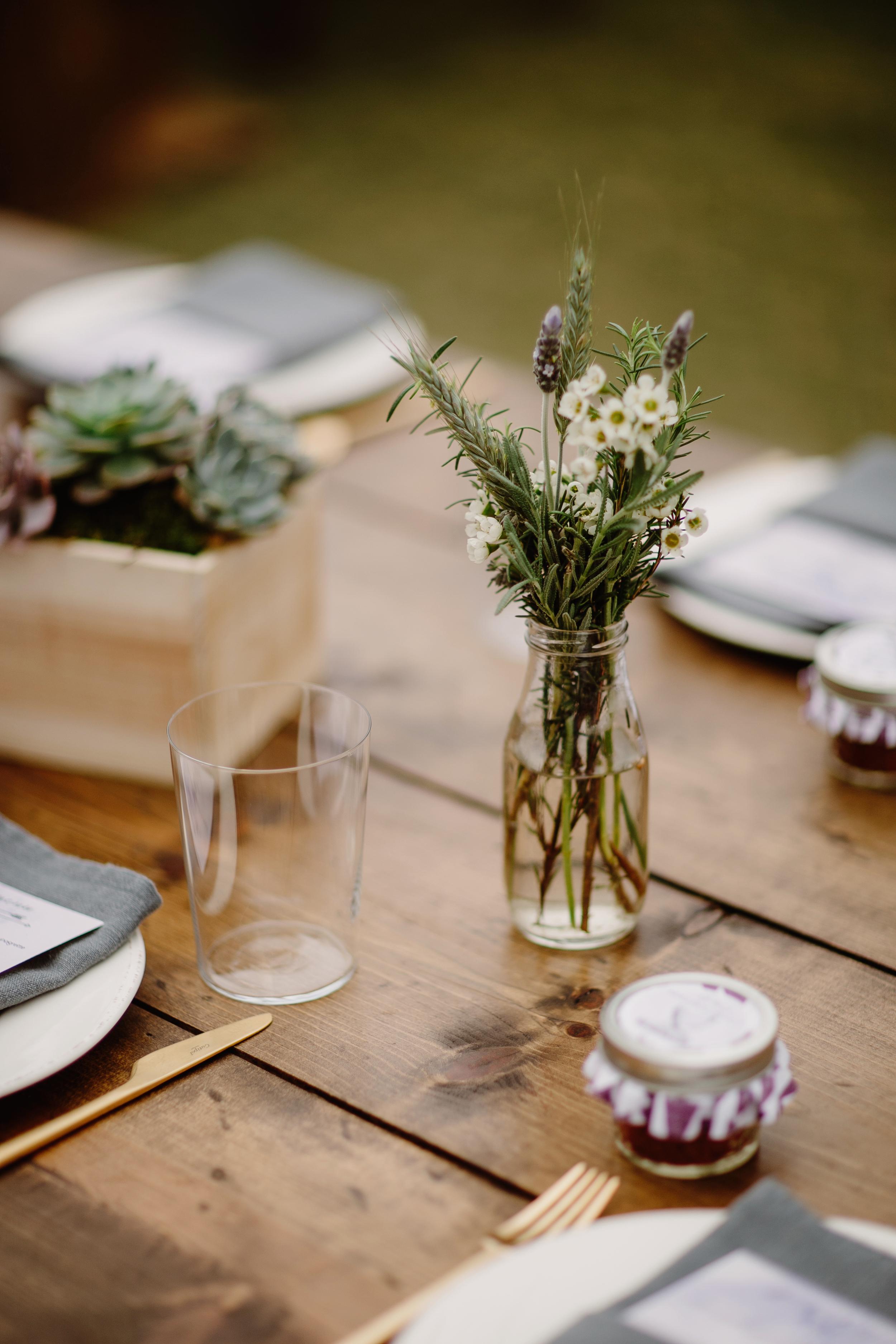 Herbal floral arrangement // Nashville Wedding Florist