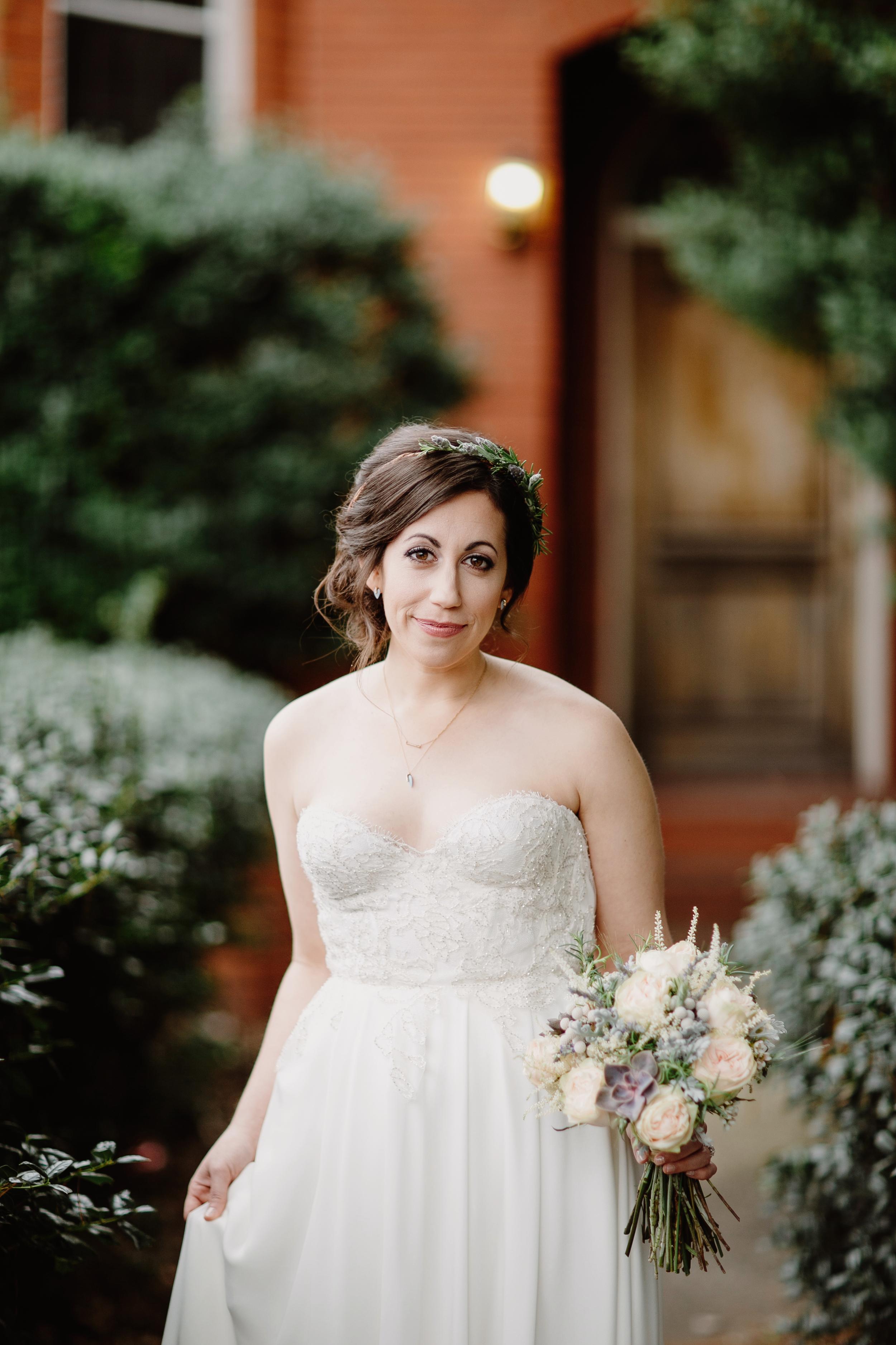 Cordelle Bride // Neutral and lavender wedding flowers