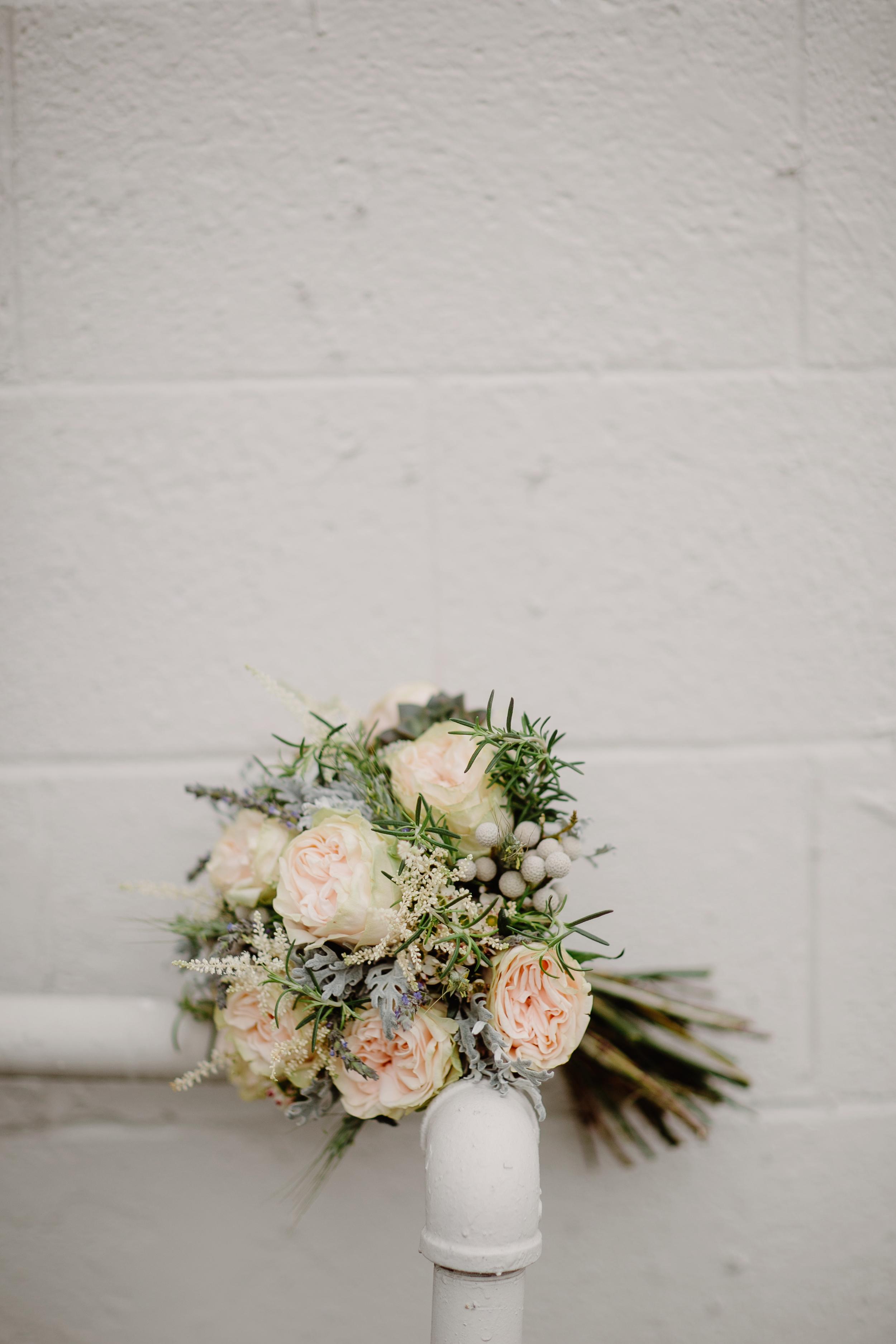 Muted bridal bouquet // Nashville Wedding Floral Design