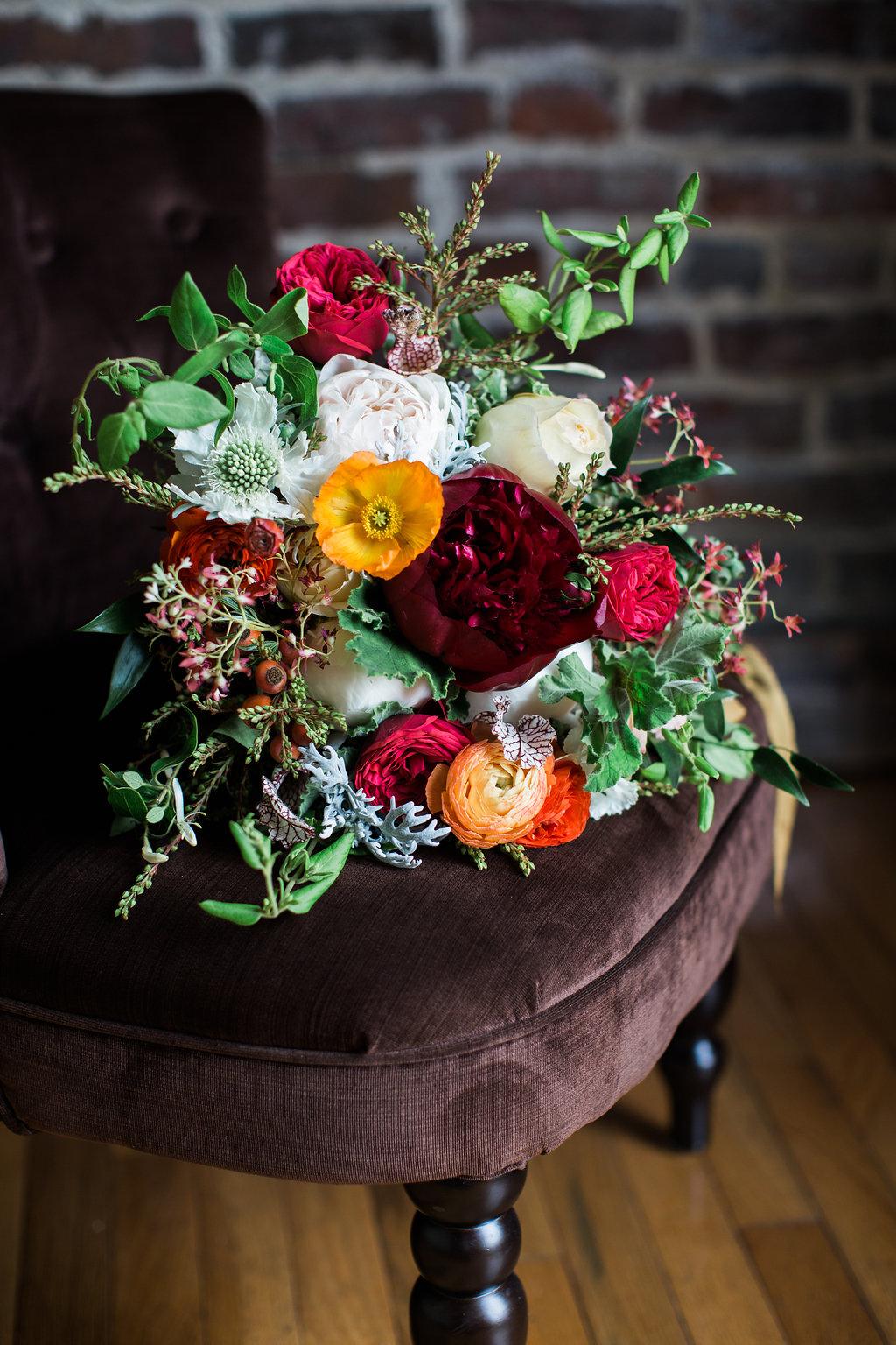 Nashville Wedding Flowers //  Rome inspired bridal bouquet