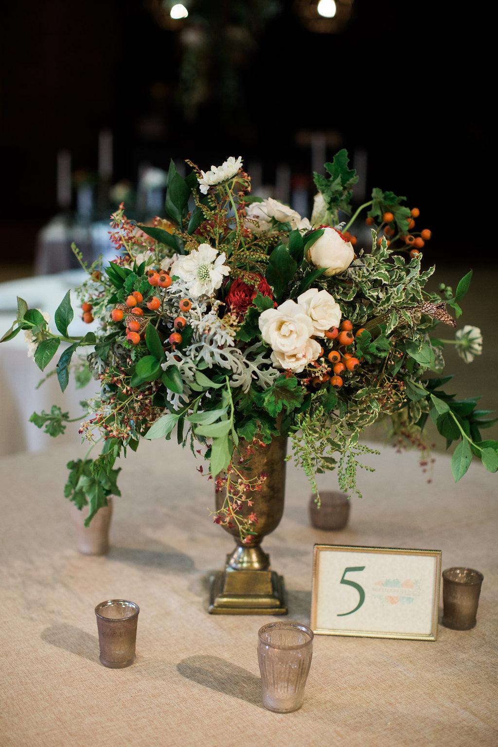 Large floral centerpiece // Nashville Wedding Flowers