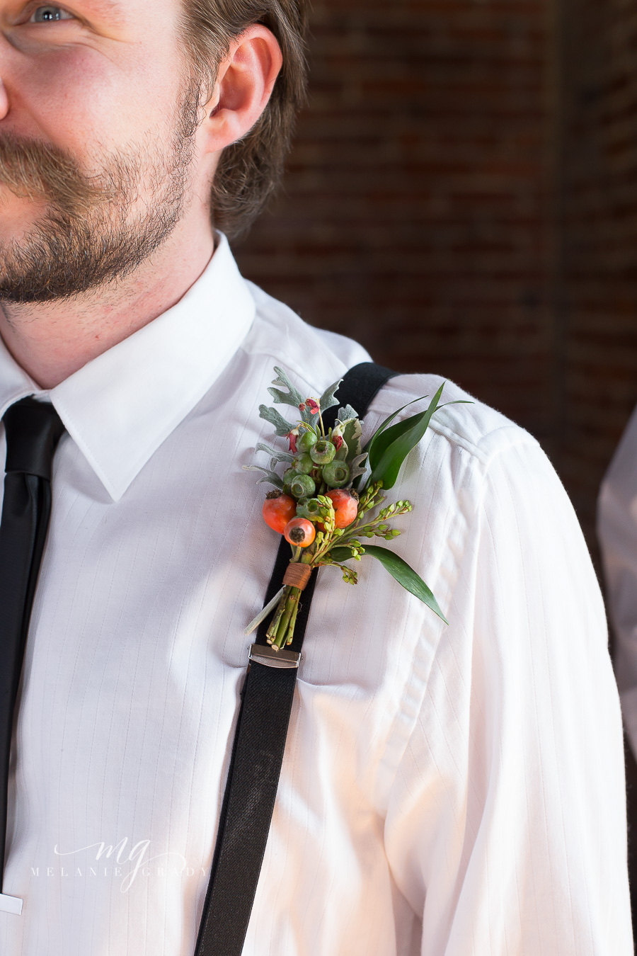Blueberry and rosehip boutonniere //Nashville Wedding Florist