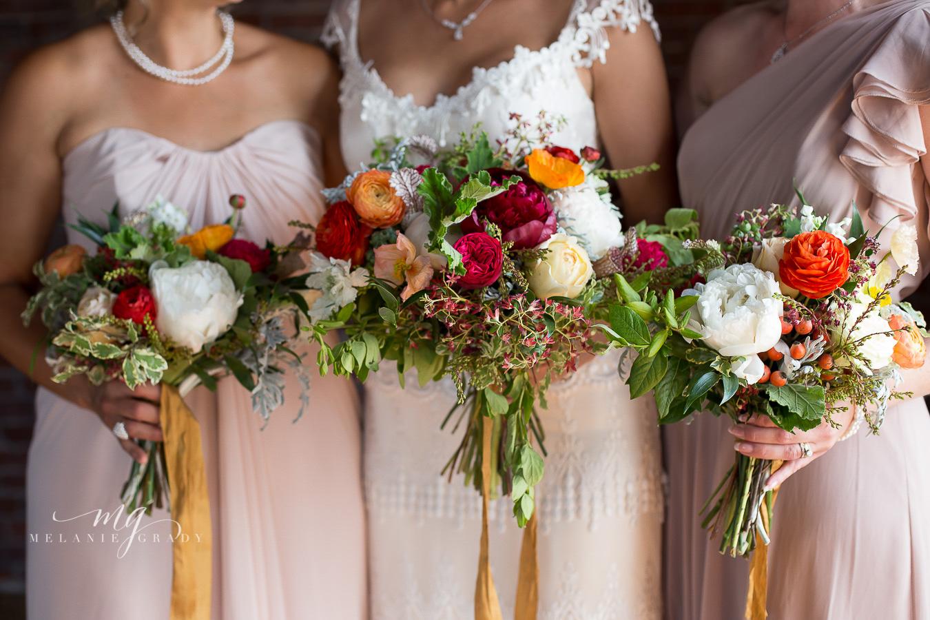 Lush bouquet with peonies, ranunculus, and garden roses // Nashville Wedding Florist
