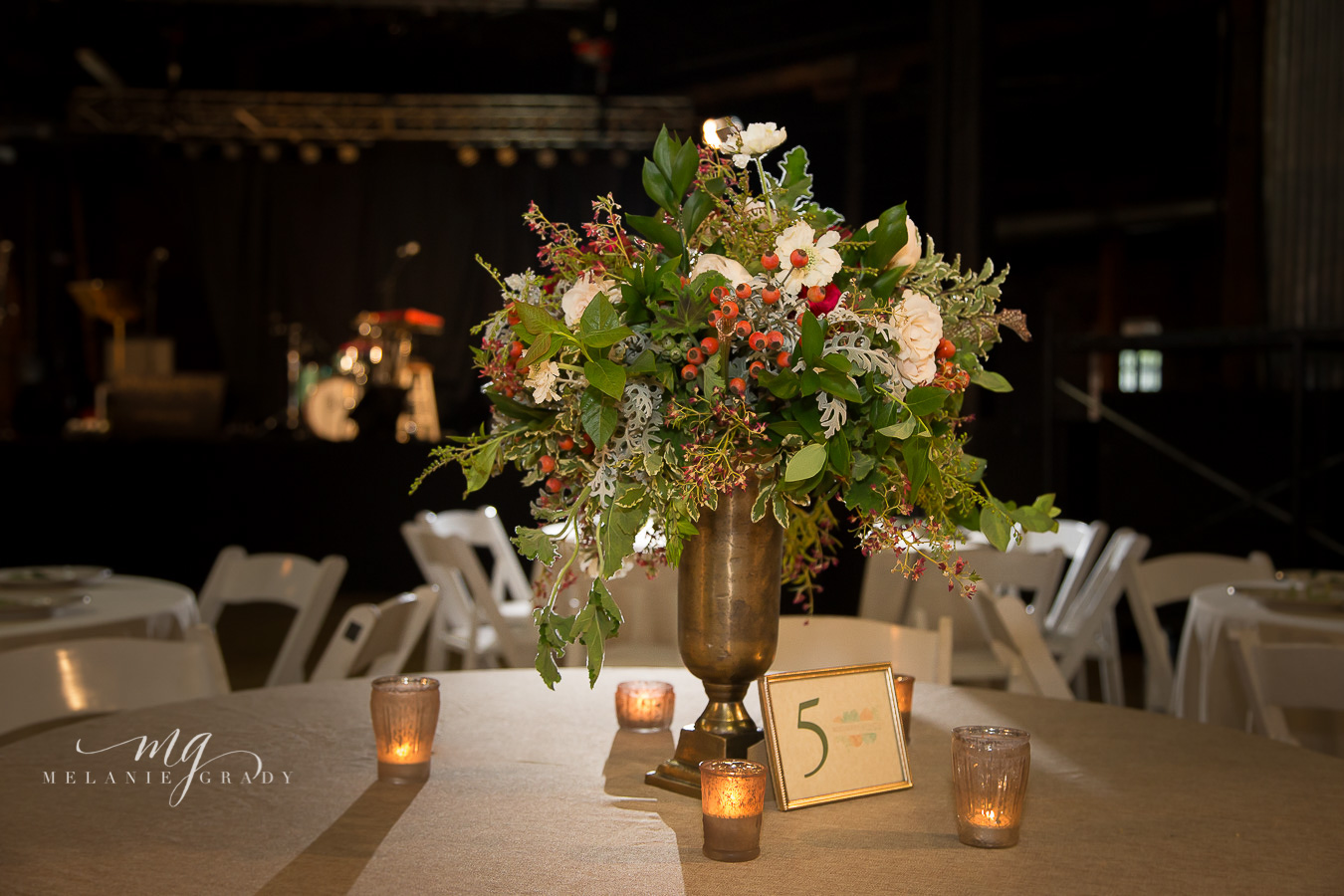 Greenery and rosehip centerpiece // Nashville Wedding Floral Design