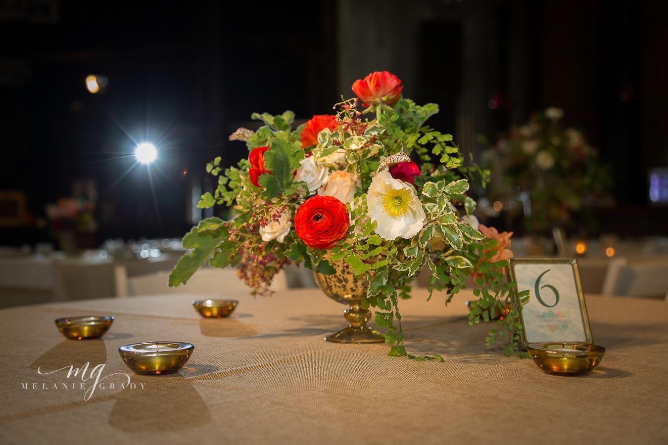 Poppy, ranunculus, and maidenhair fern arrangement // Nashville Wedding Florist