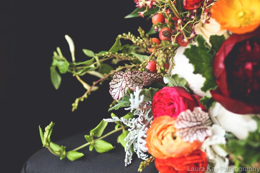 Honeysuckle, saracena swamp lily, ranunculus // Nashville Wedding Floral Design