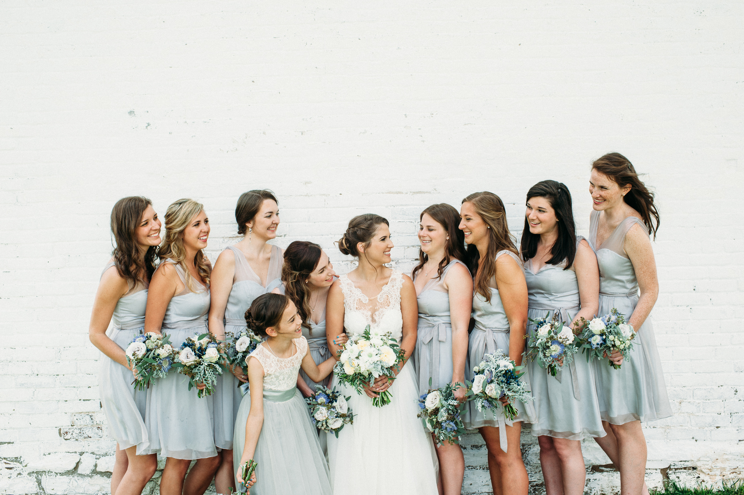 Light Blue Bridesmaid Dresses // Nashville Wedding Flowers