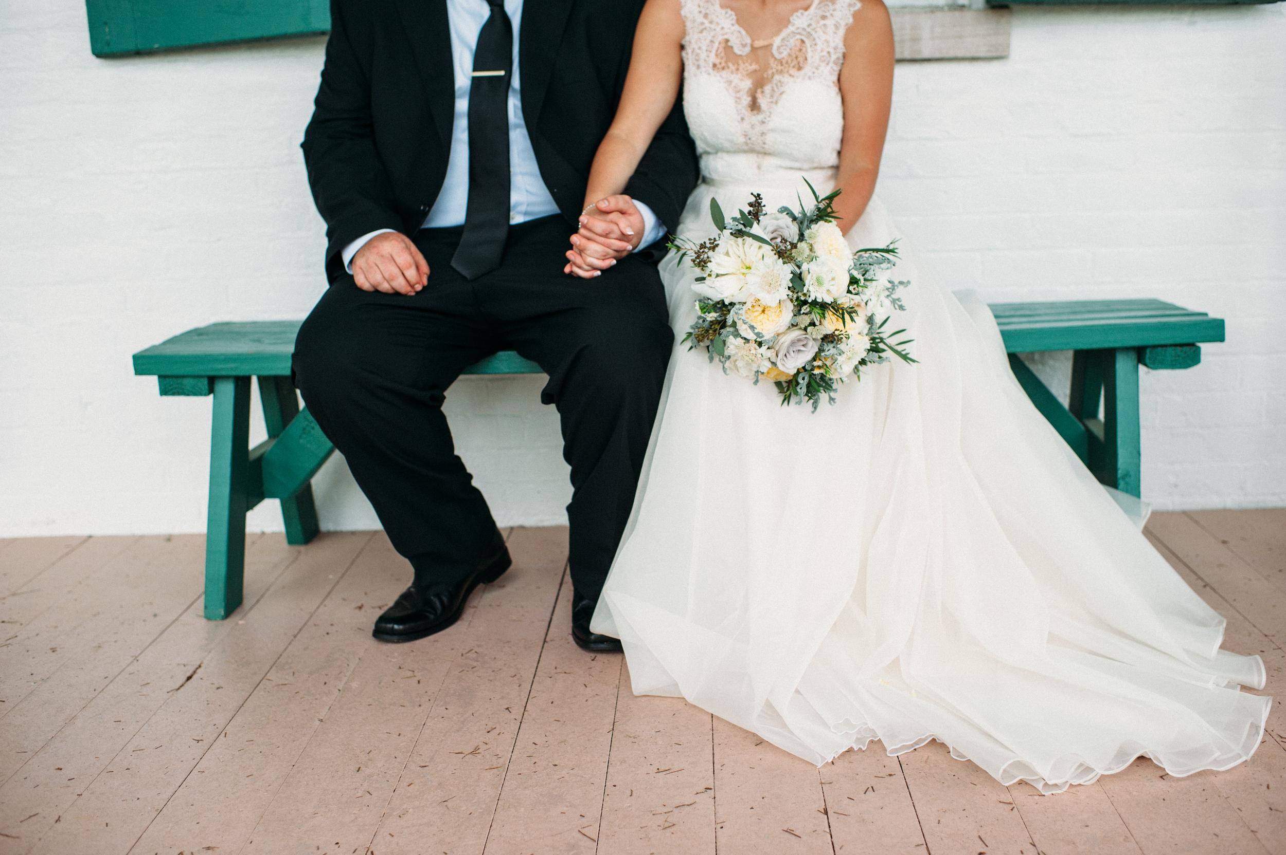Carnton Plantation Bride and Groom // Franklin, TN Wedding Flowers