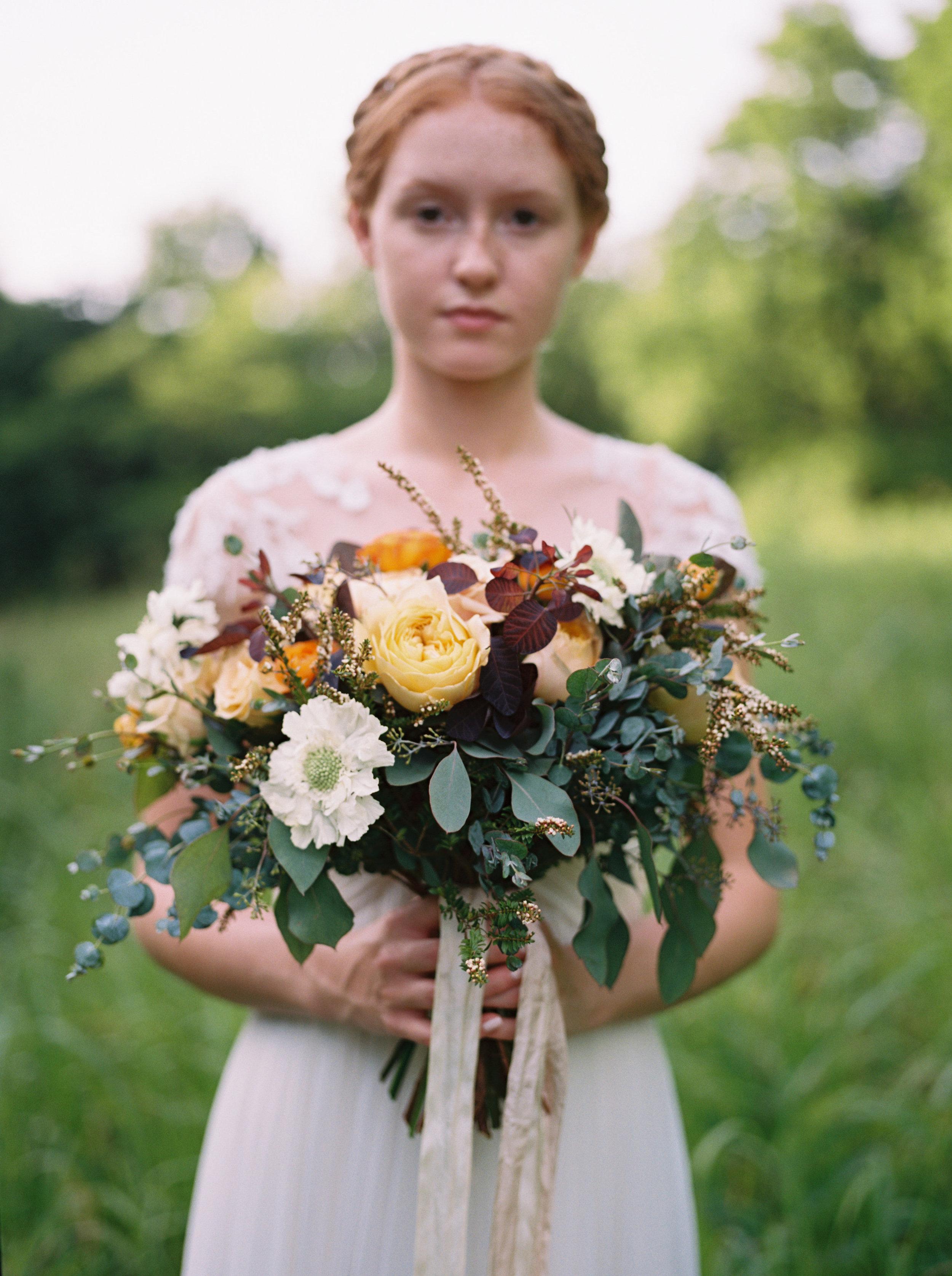Lush, organic bridal bouquet // Tennessee Wedding Florist