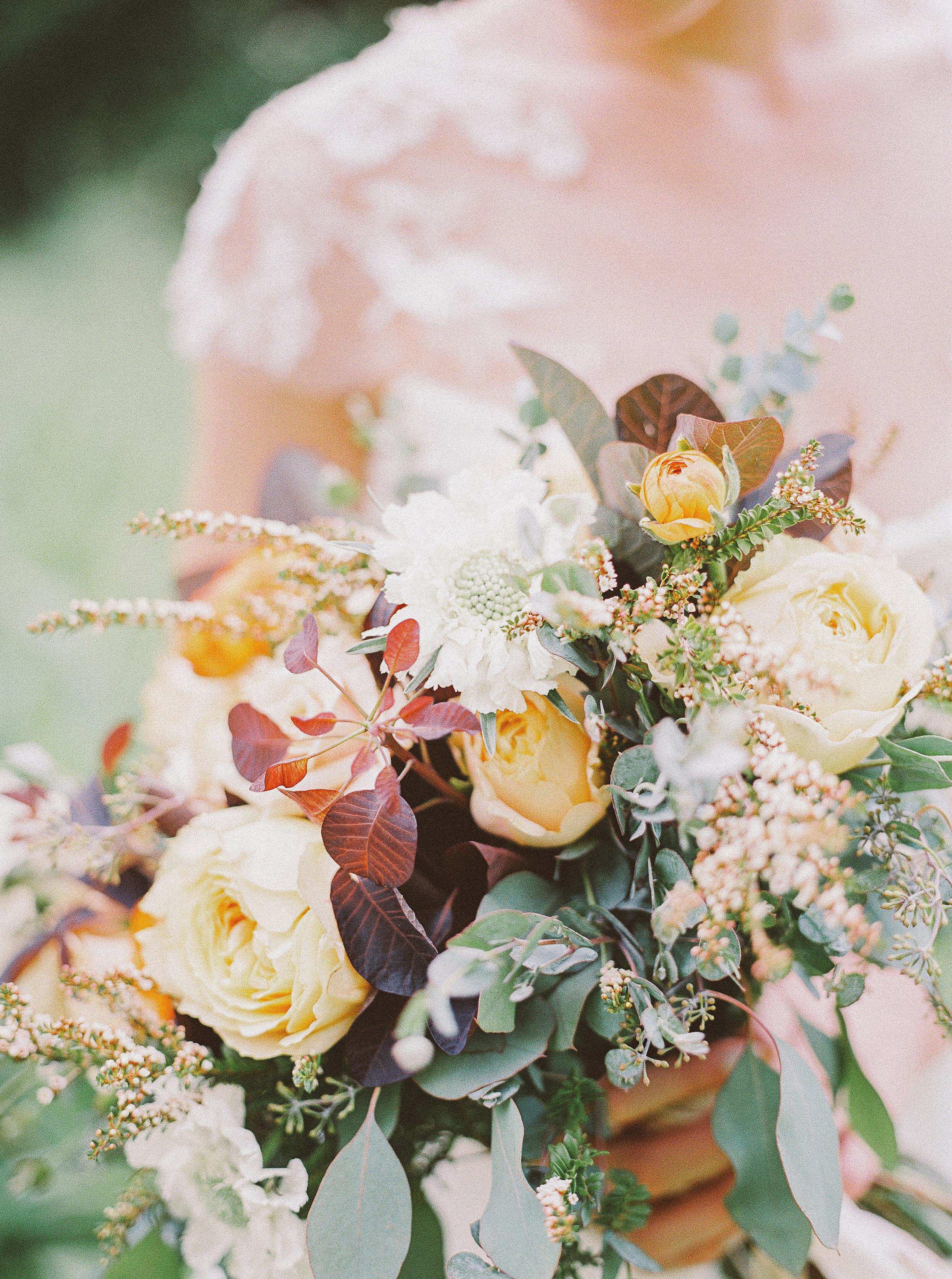 Garden rose and greenery bride's bouquet // Nashville Event Flowers