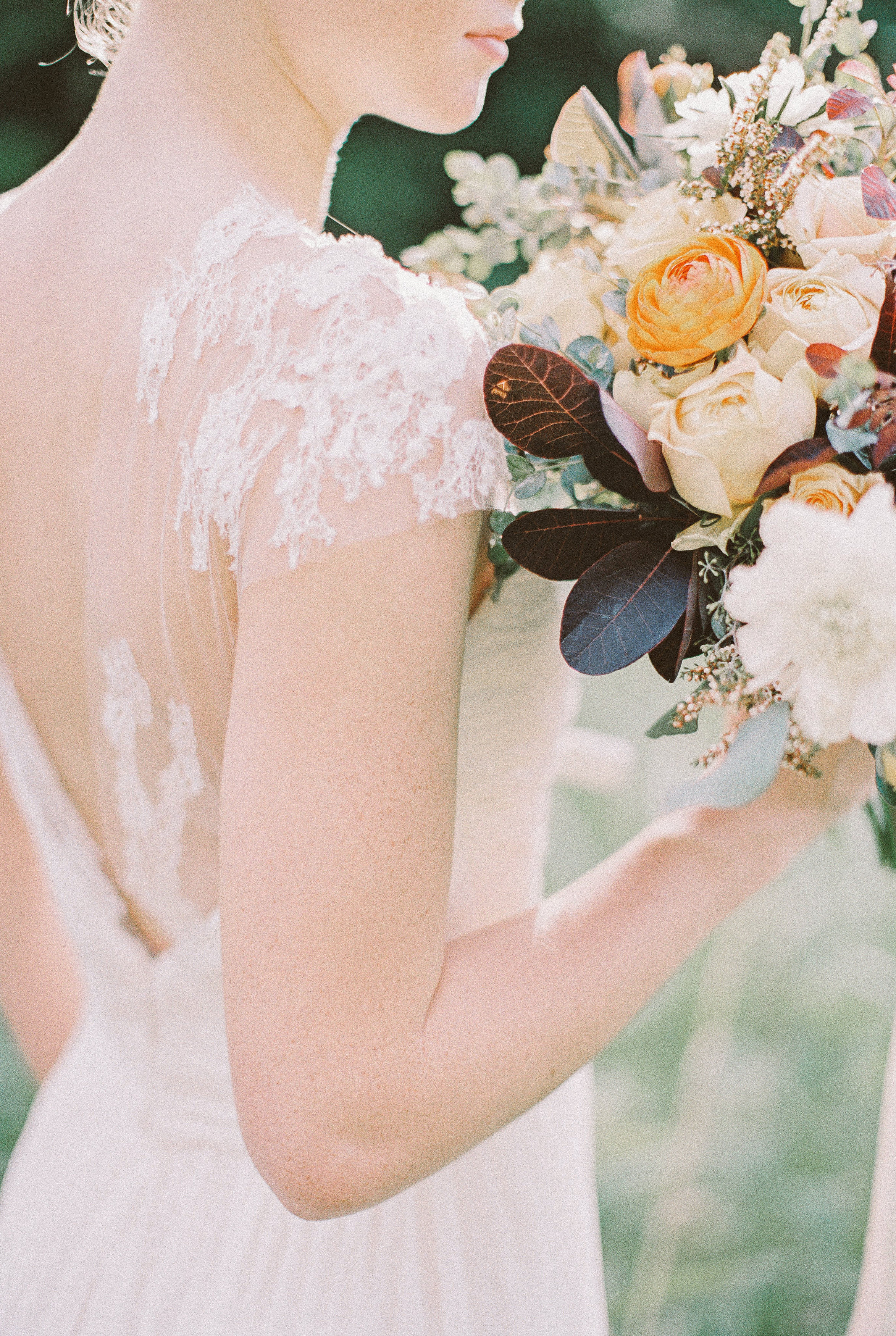 Ethereal wedding dress // Nashville Event Floral Design