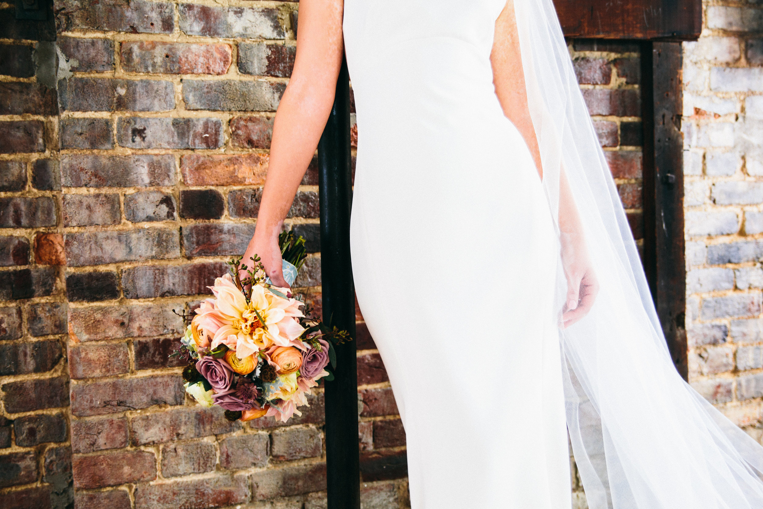 Cannery One Wedding // Mauve and coral wedding flowers // Nashville Floral Design