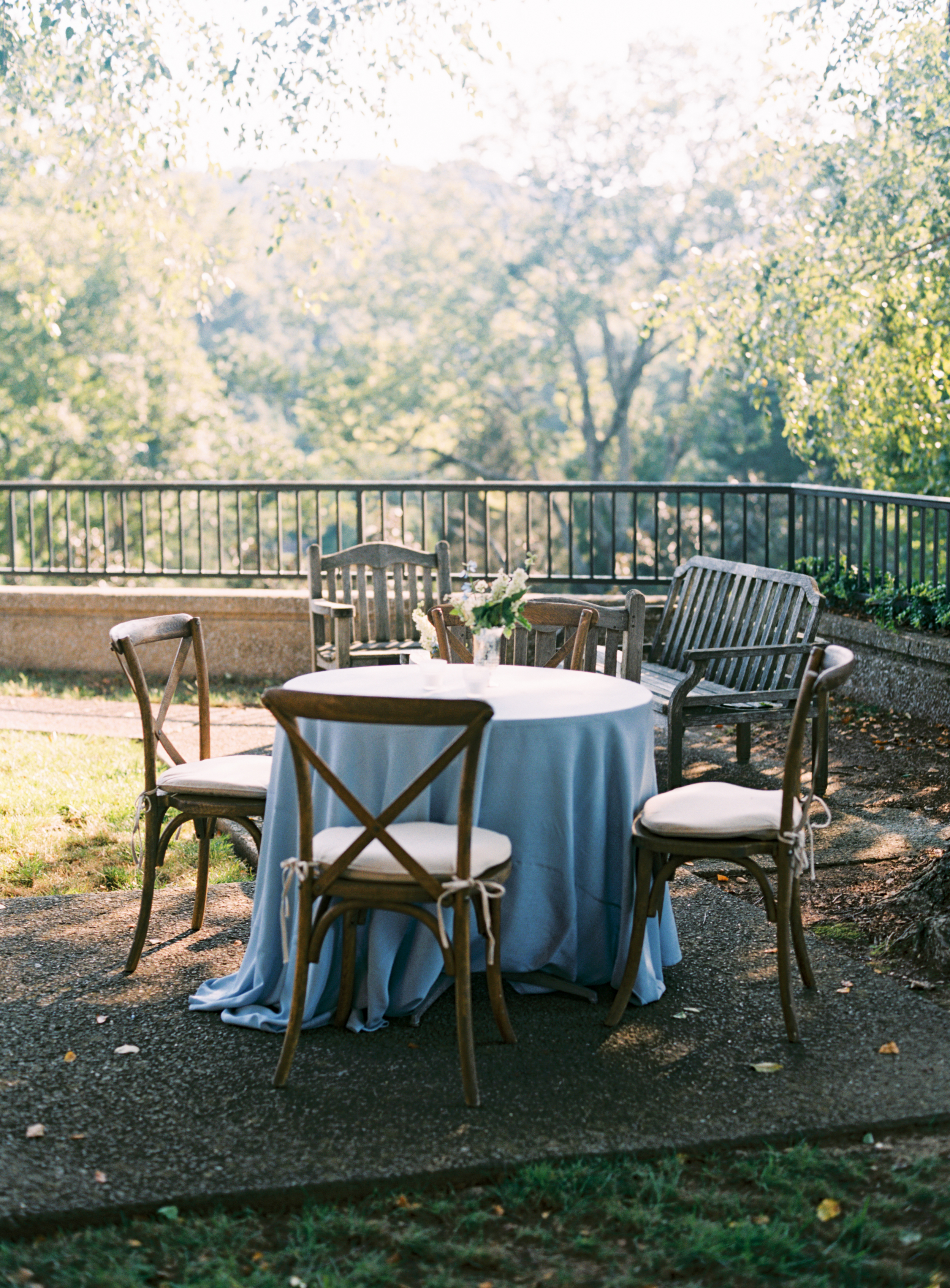 Outdoor Seating at Dusk // Nashville Wedding Flowers