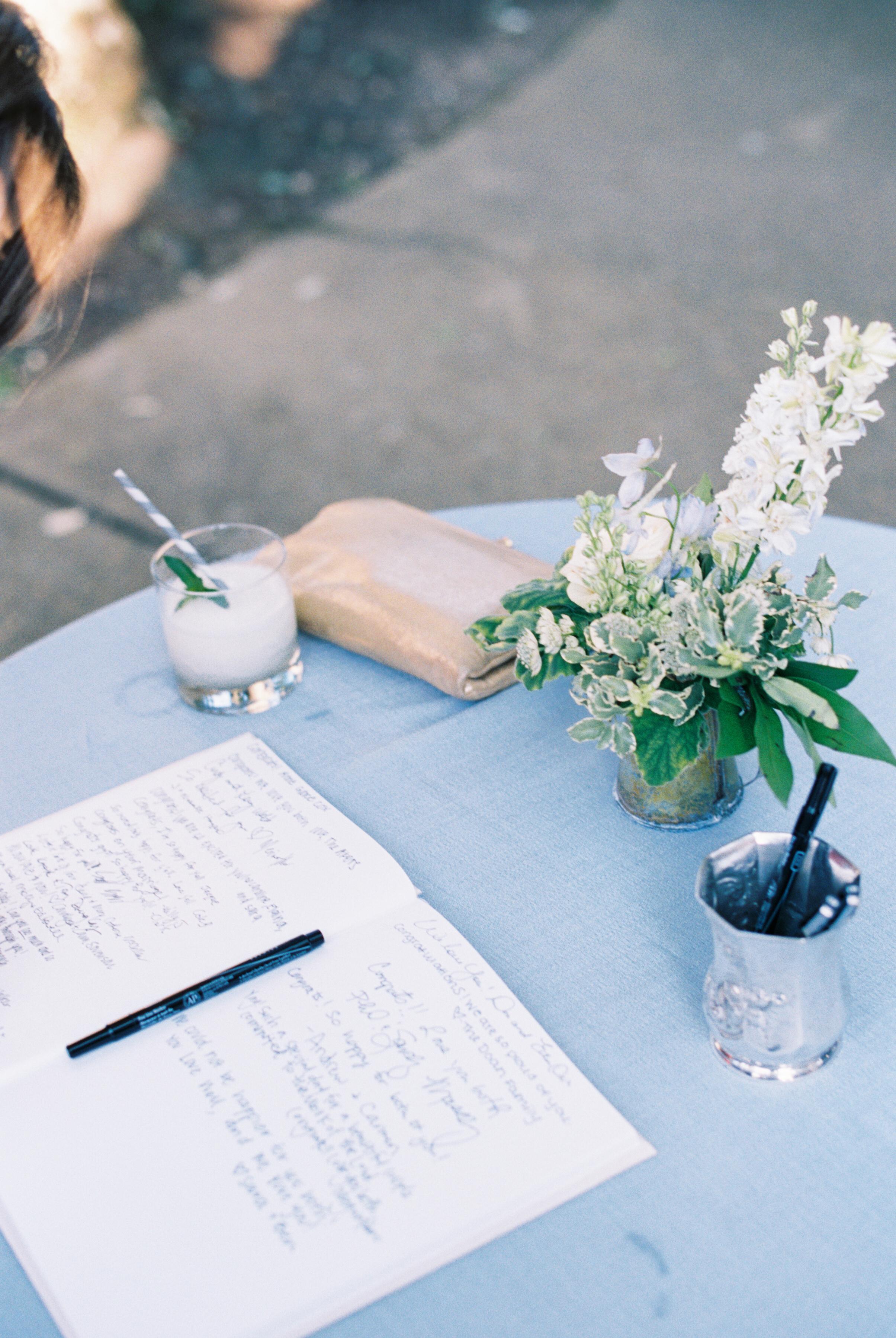 Guestbook Table // Nashville Wedding Floral Design