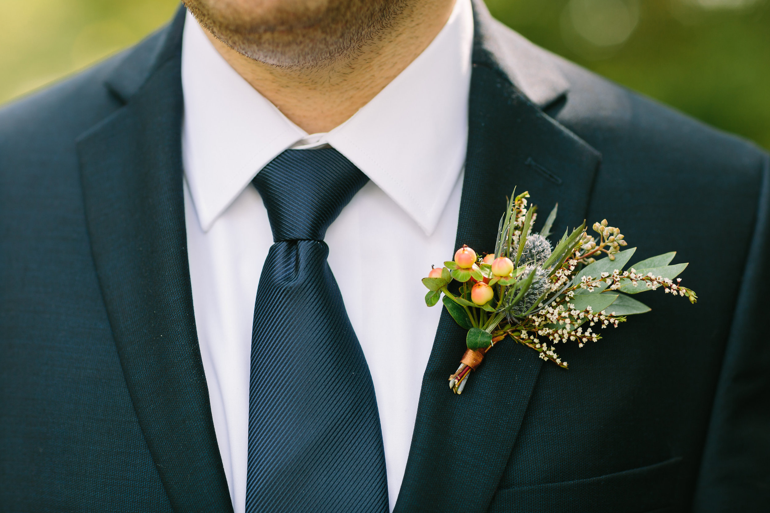 Groom's Boutonniere // Nashville Wedding Florist