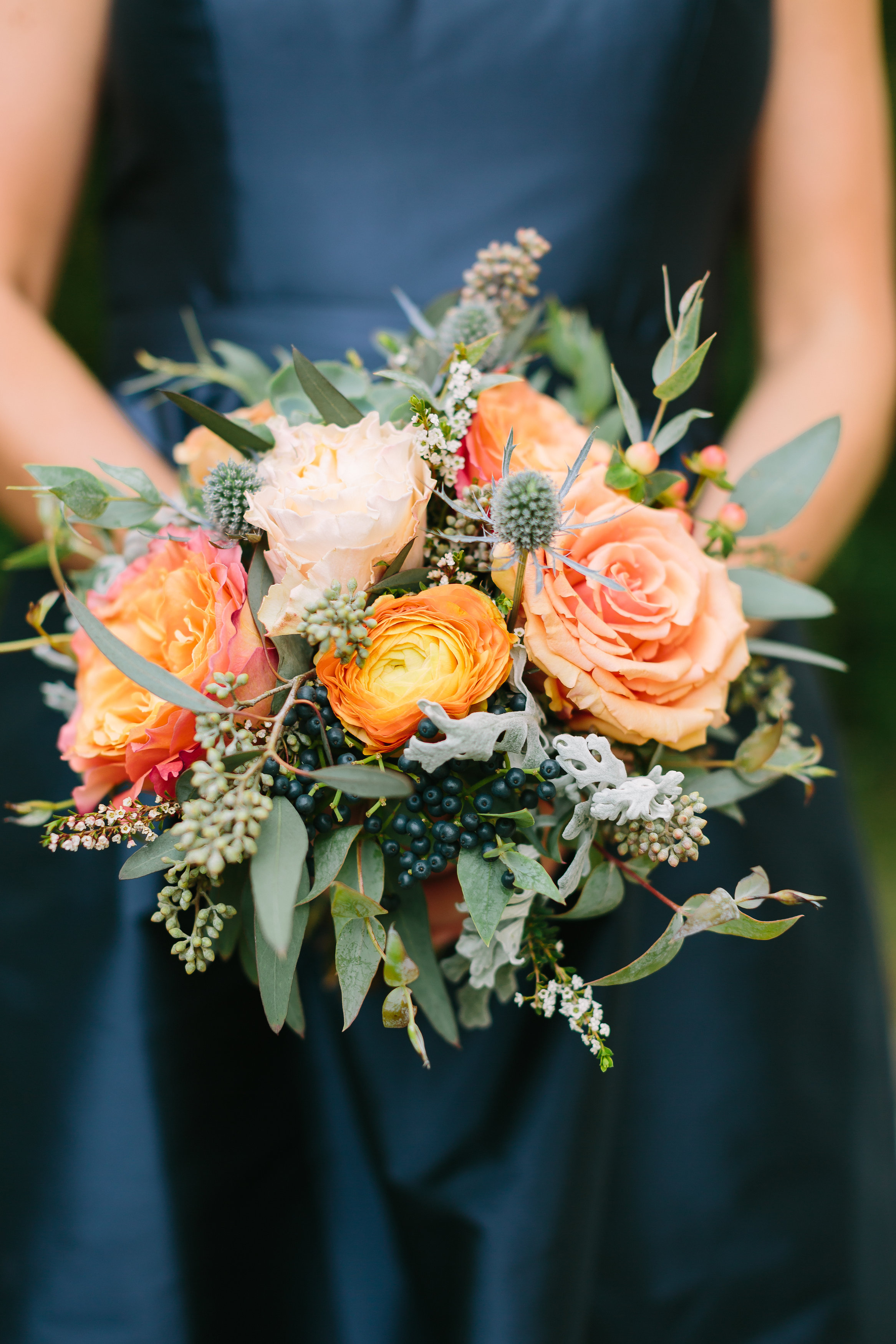 Autumnal bridesmaid bouquet // Nashville Wedding Florals
