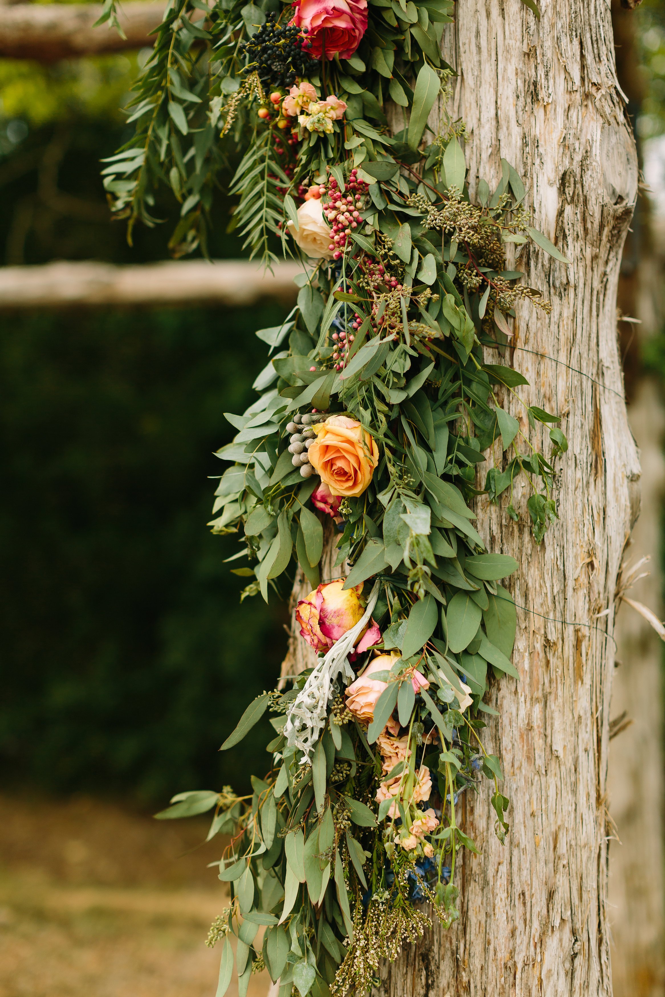 Lush garland for ceremony backdrop // Nashville Wedding Florist