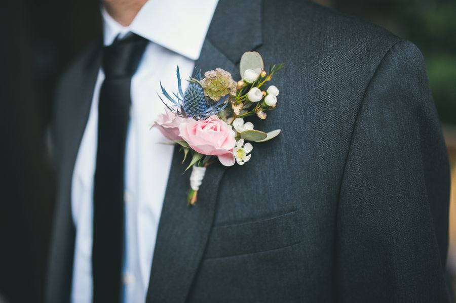 Wildflower Boutonniere // Nashville Wedding Florist