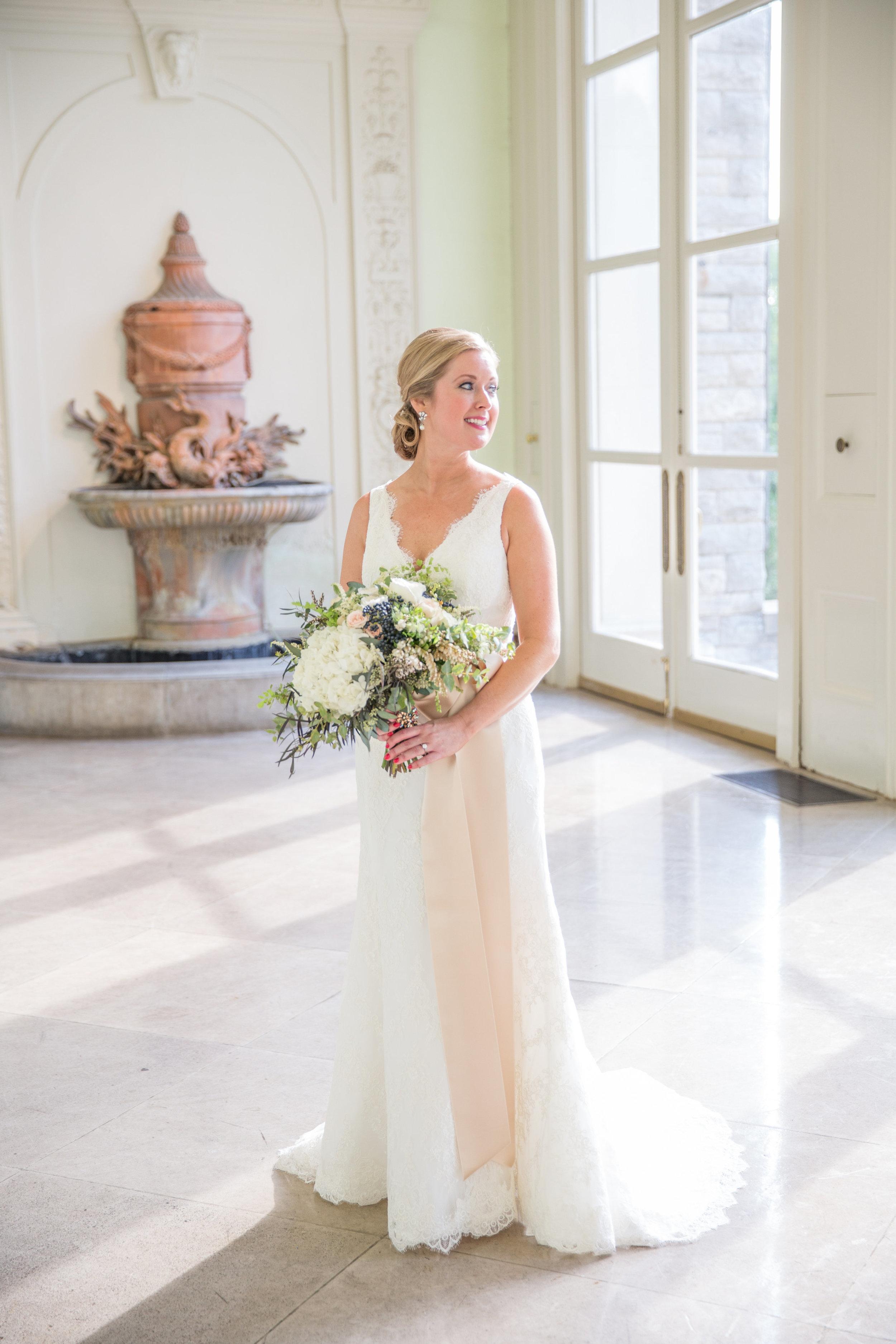 Lush, organic bridal bouquet // Destination Floral Design in Nashville
