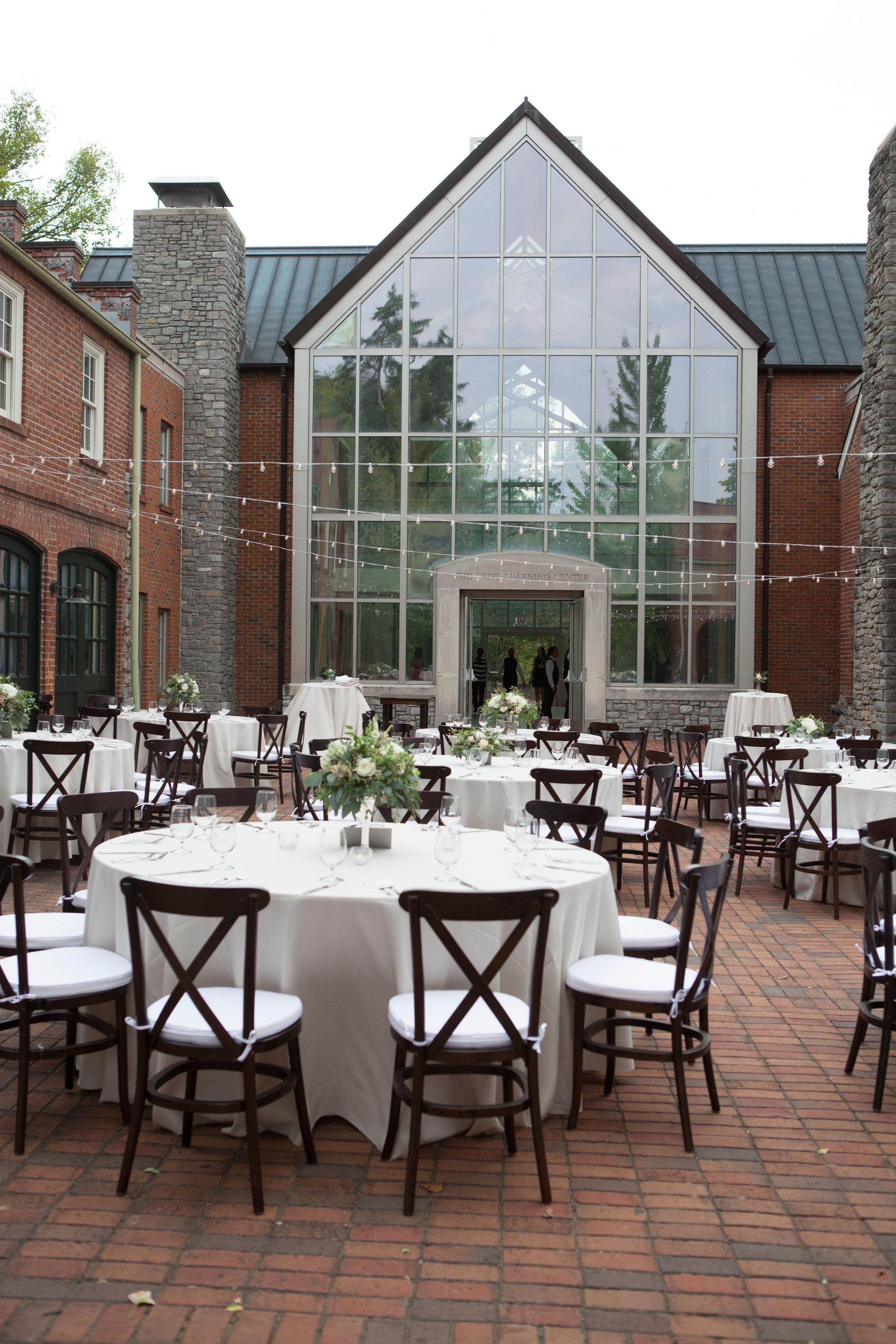 Reception in the Carriage House at Cheekwood Botanic Gardens / Nashville Wedding Florist