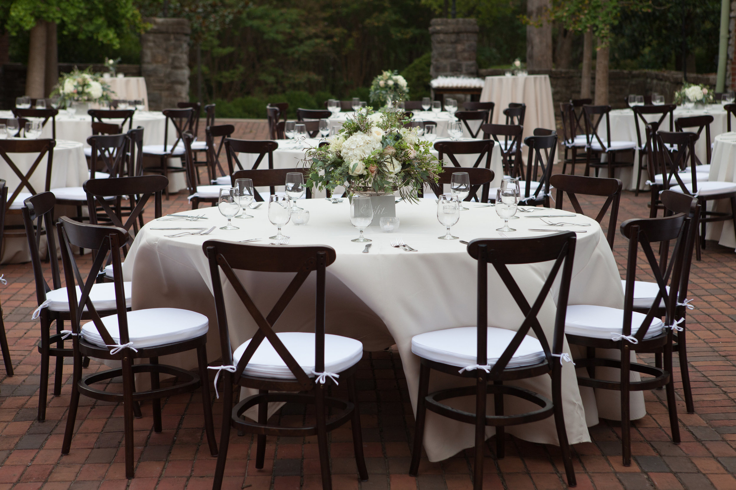 Courtyard Wedding Reception // Nashville Floral Design