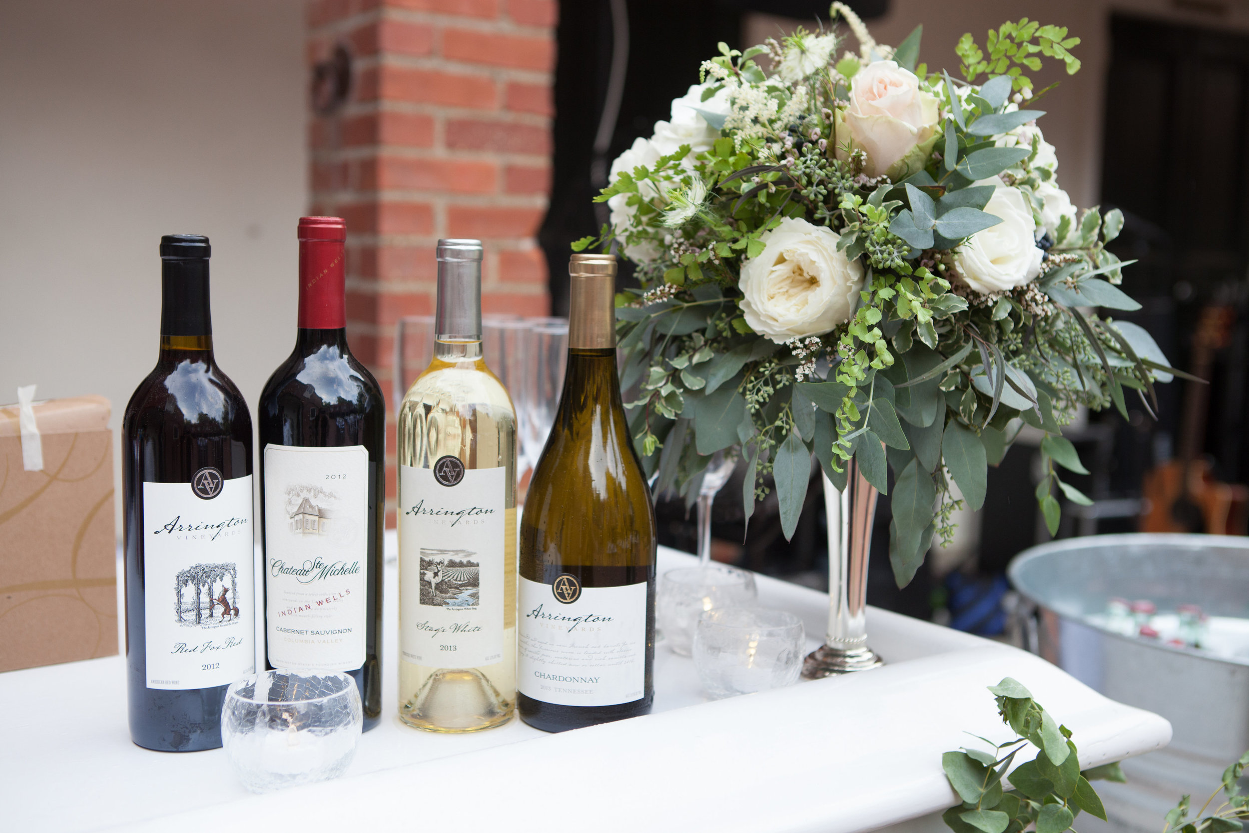 Wedding Bar with Local Wines // Nashville Florist