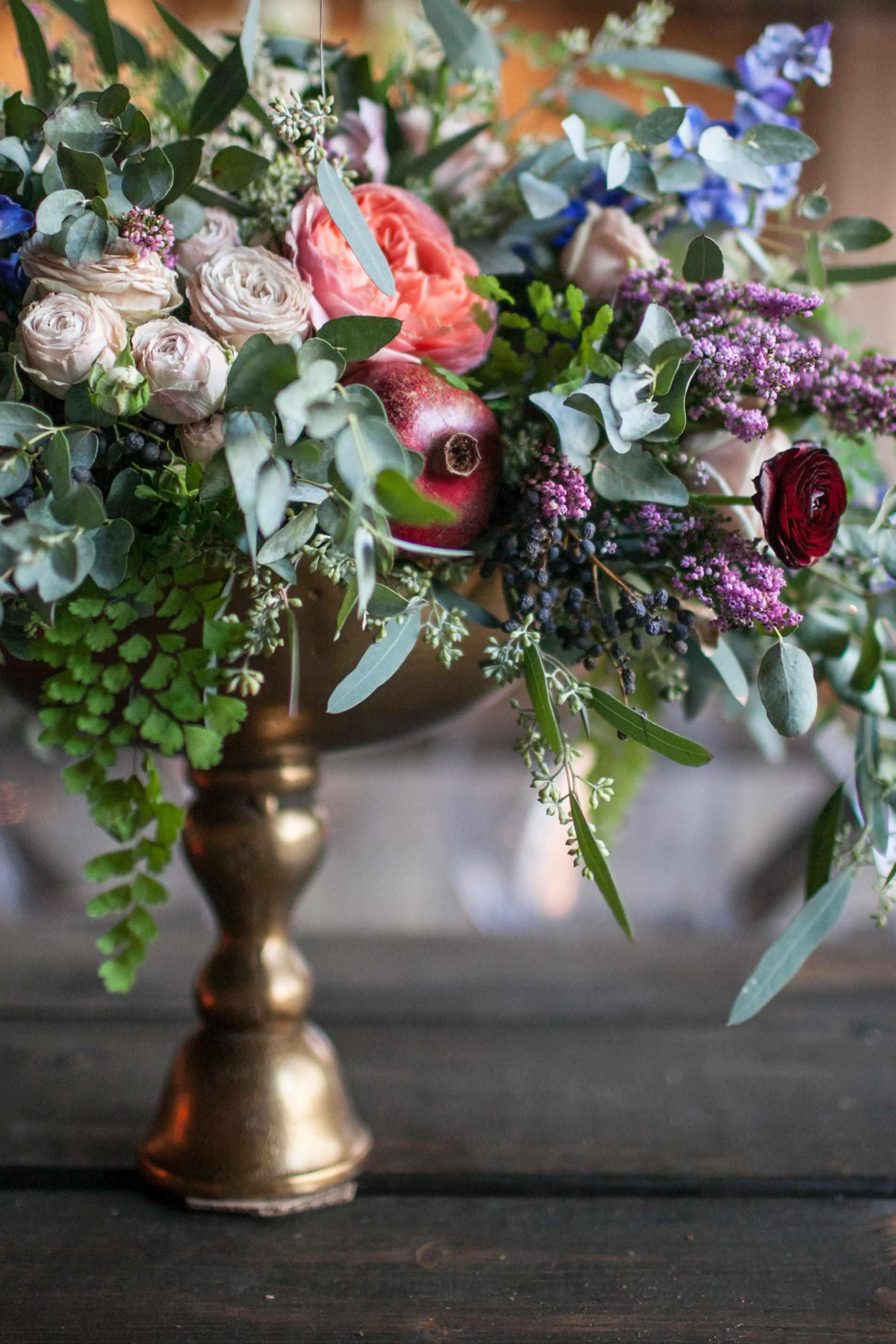 Maidenhair Fern, Garden Roses, and Ranunculus // Nashville Florist