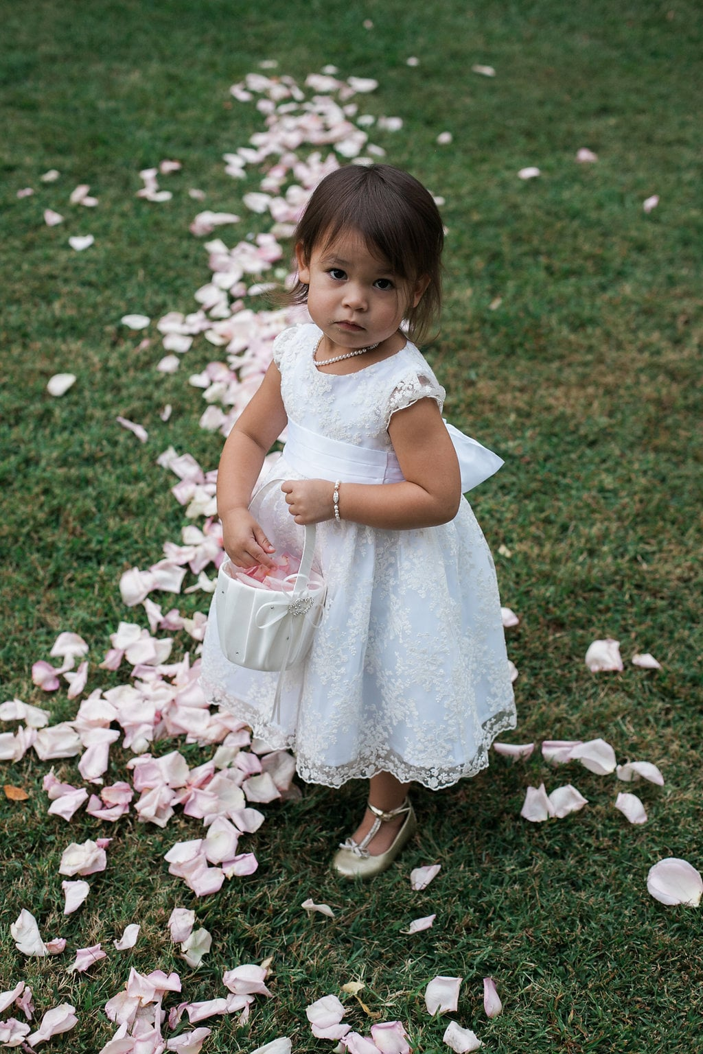 Precious Flower Girl with Rose Petals // Nashville Floral Design