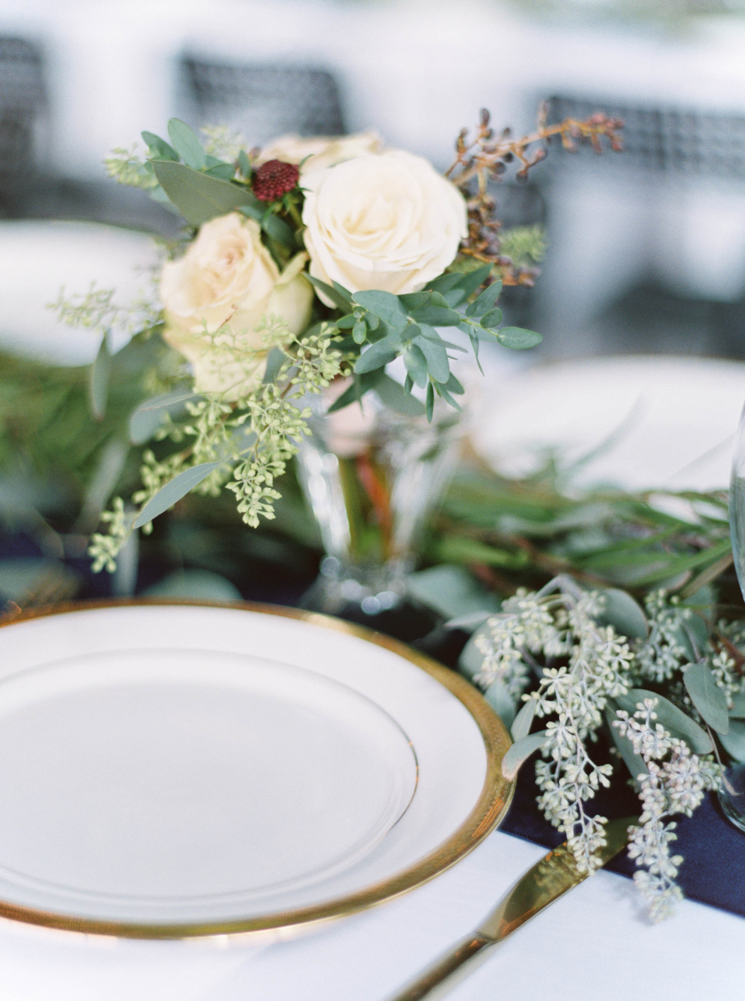 Nosegays for every female guest double as centerpieces // Destination Wedding Florist