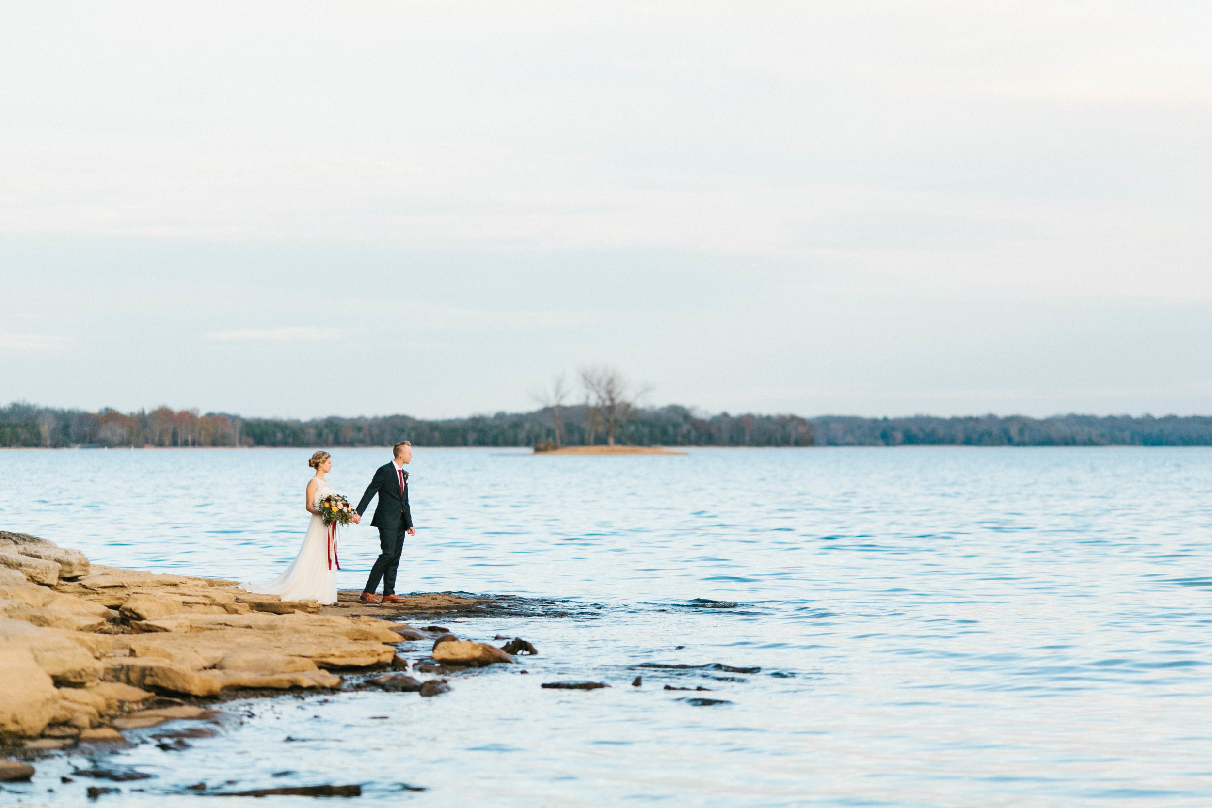 Bridal Portraits by the lake // Destination Floral Design