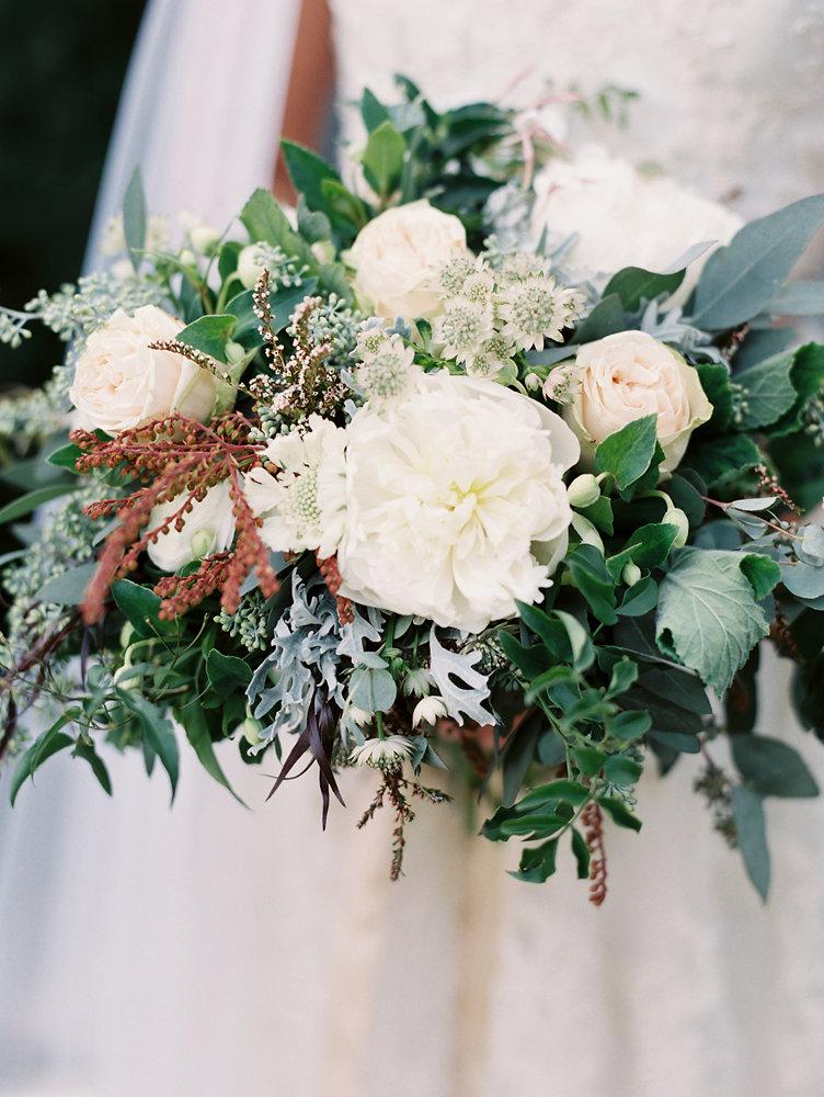Loose, untamed bridal bouquet // Nashville Upscale Wedding Floral Design
