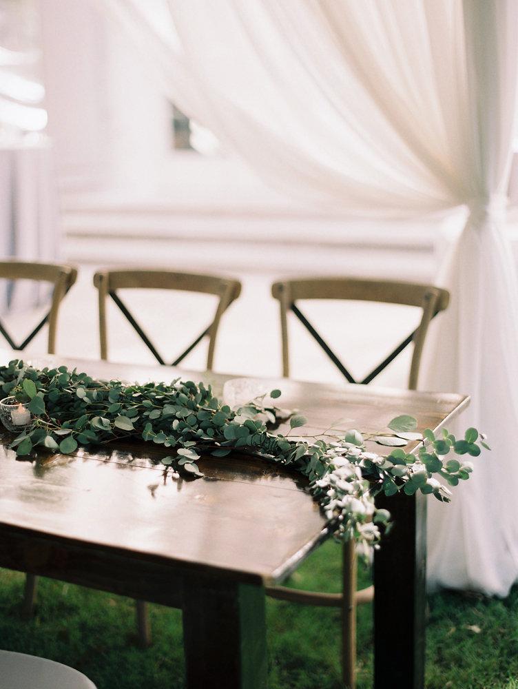 Greenery garland runner // Destination Wedding Nashville
