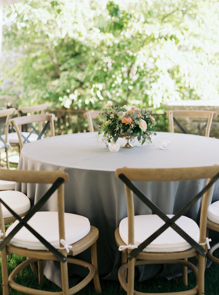 Muted tablescape // Nashville Garden Wedding Floral Design