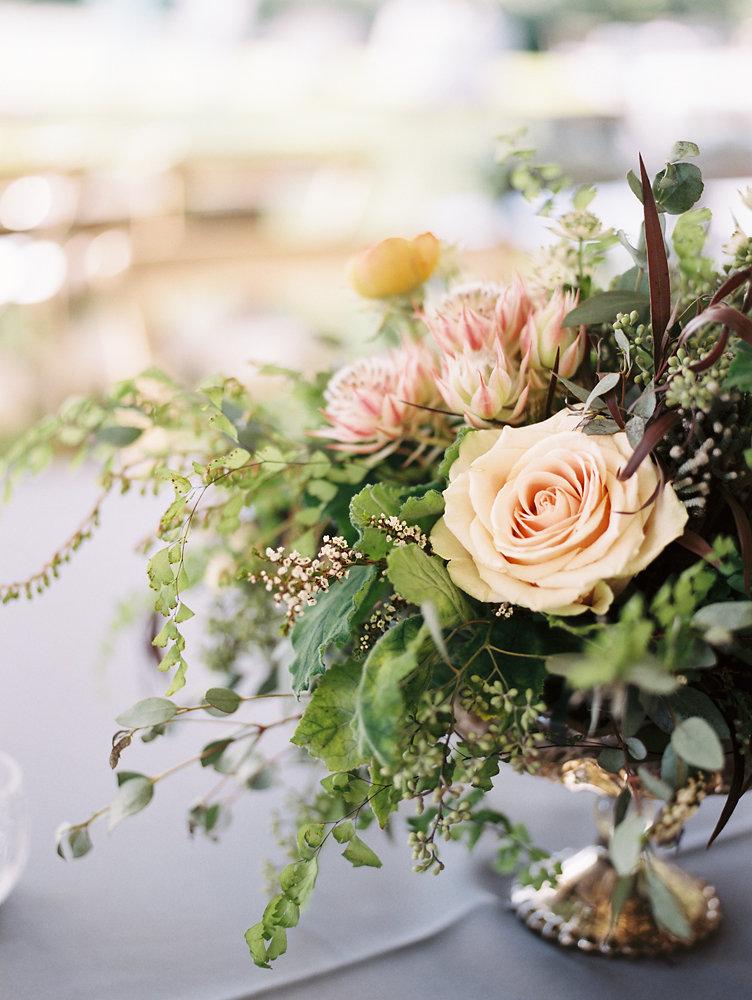 Organic Floral Centerpiece // Nashville Upscale Wedding Floral Design
