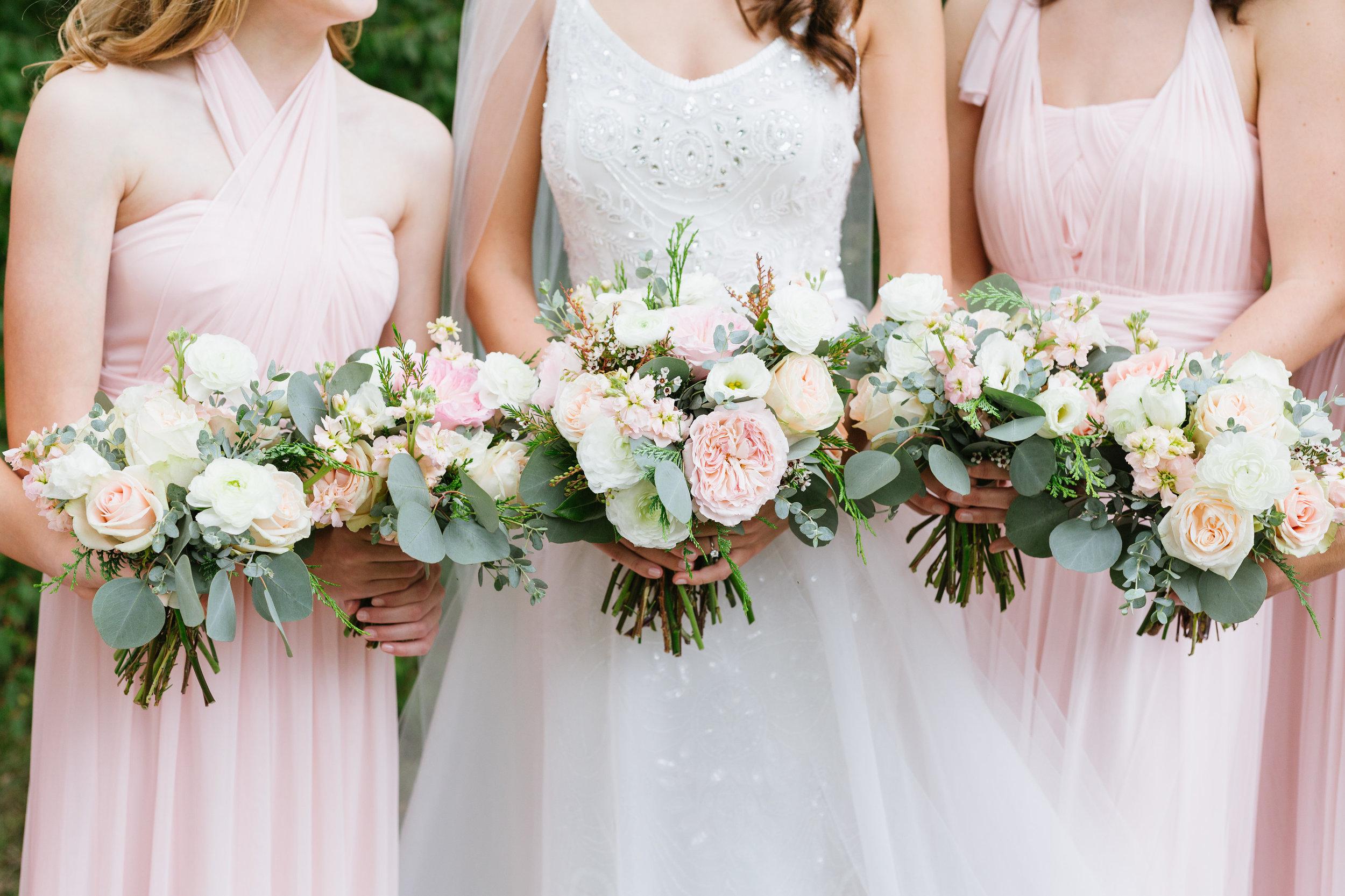 Light pink and neutral wedding flowers // Nashville Florist
