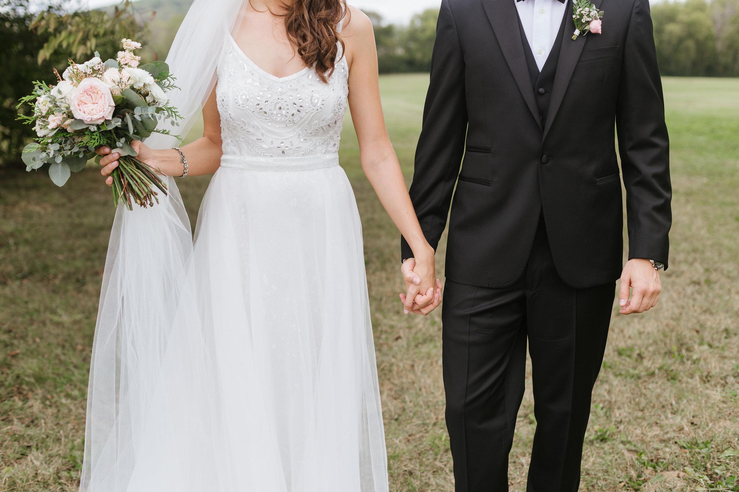 Bride and Groom // Nashville Wedding Florist