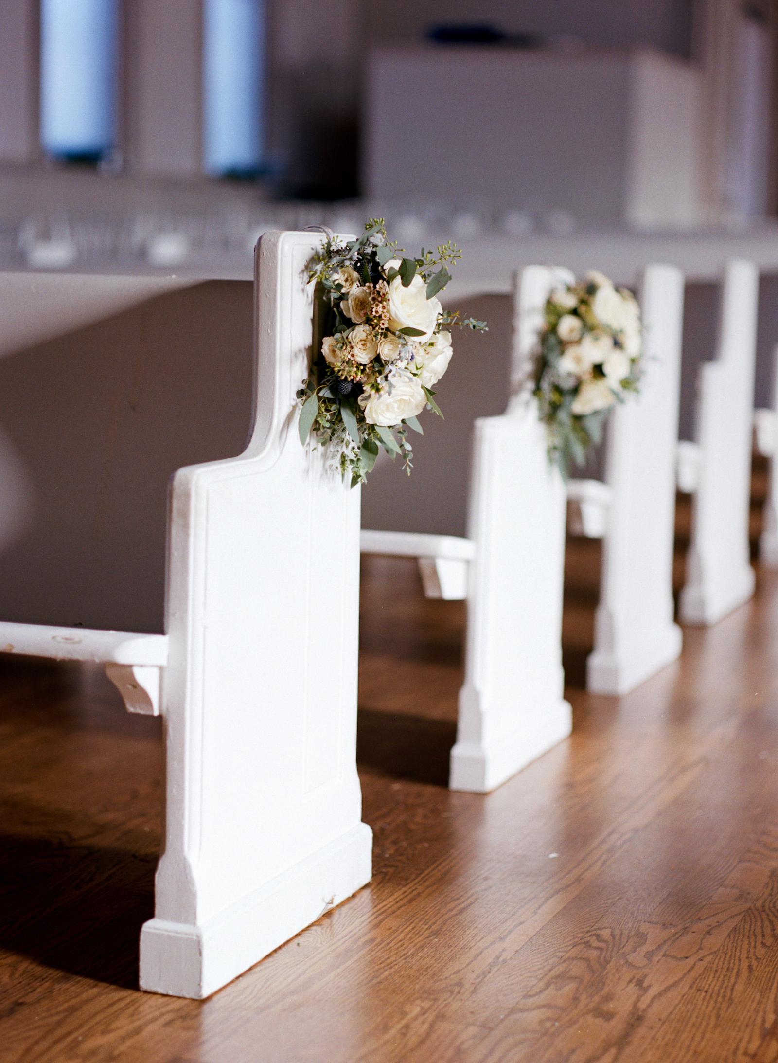 Pew Markers // White Chapel // Nashville Floral Design